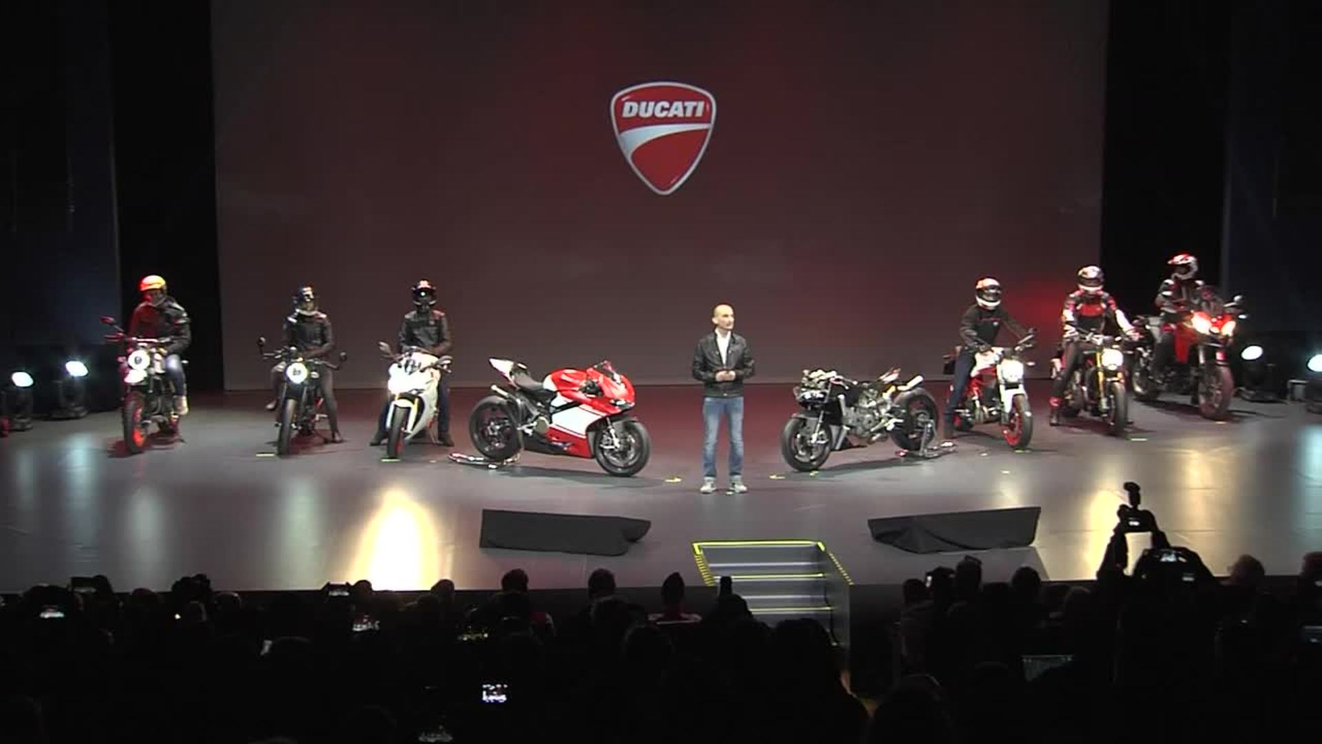 More than red – Ducati press show with six new models