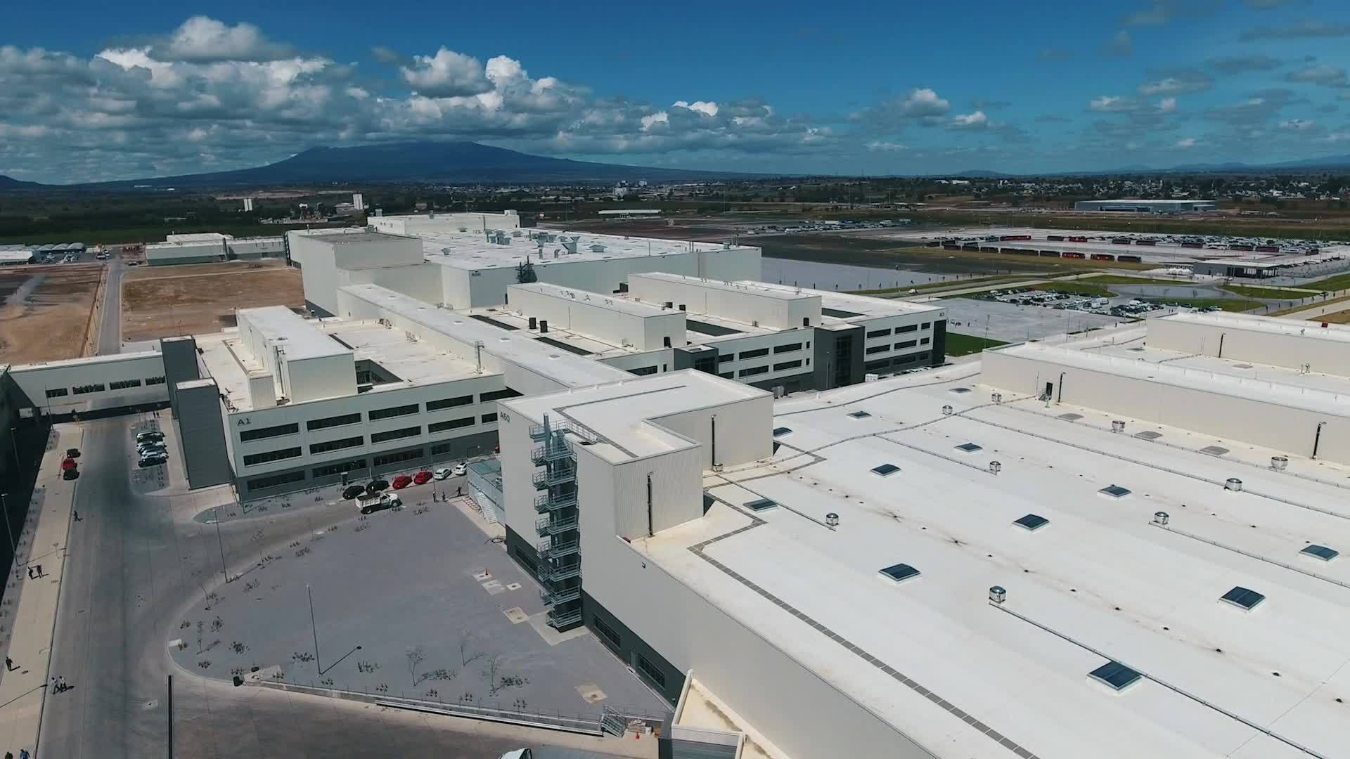Construction work of the new Audi plant in Mexico