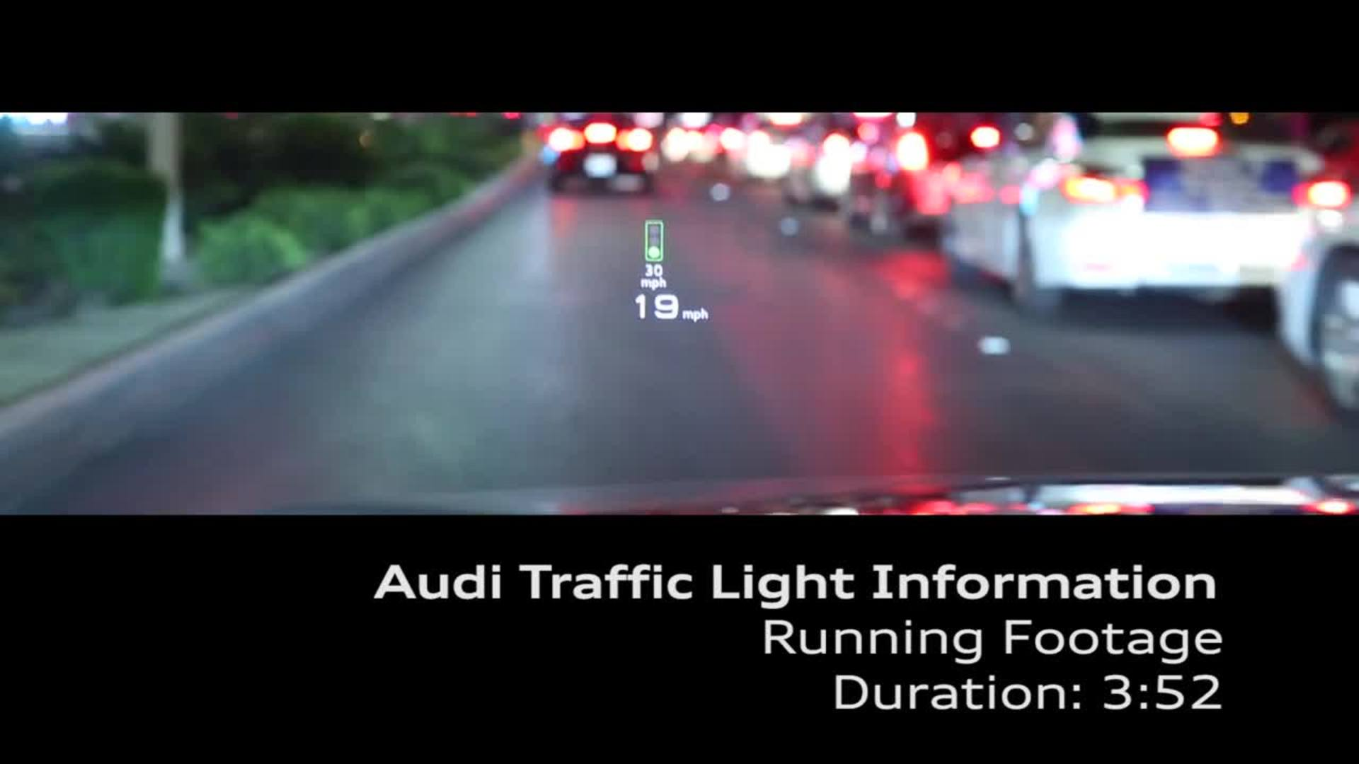 Audi networks with traffic lights in the USA - Footage