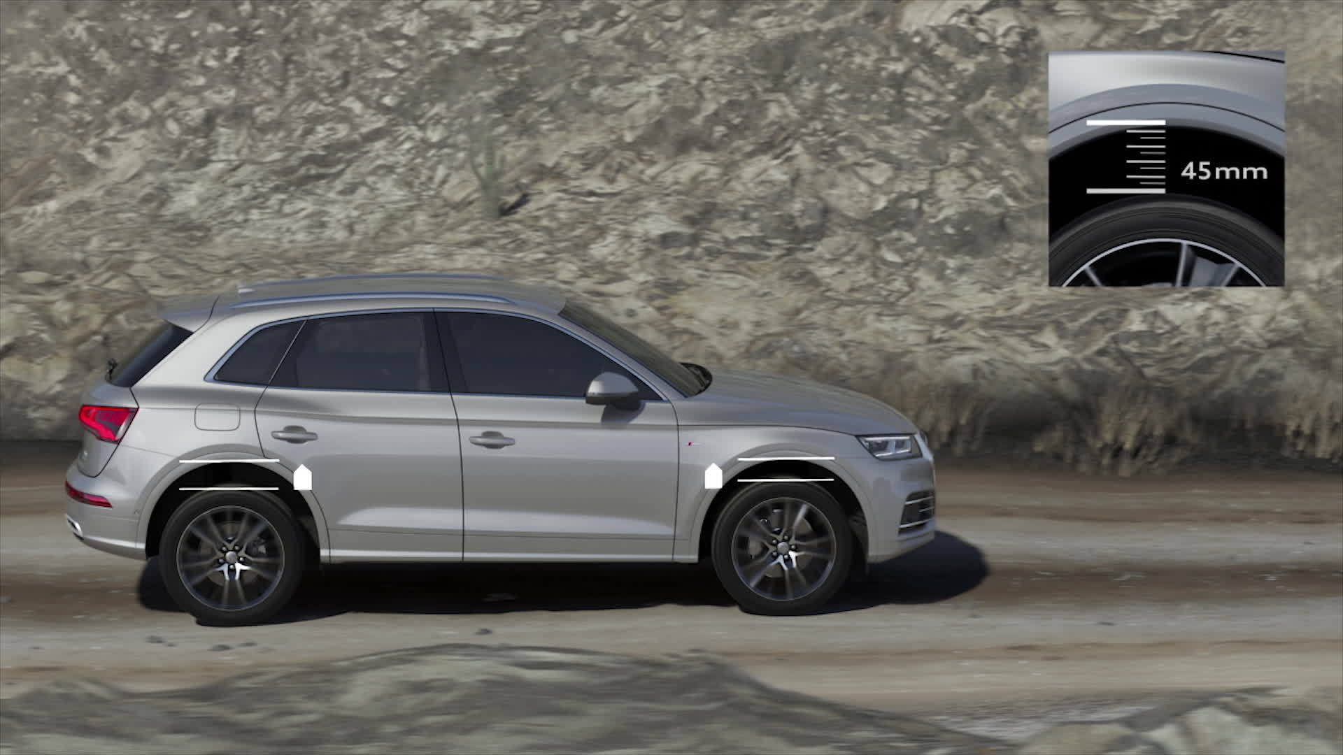 Ready for almost all landscapes - The new Audi Q5 with adaptive air suspension