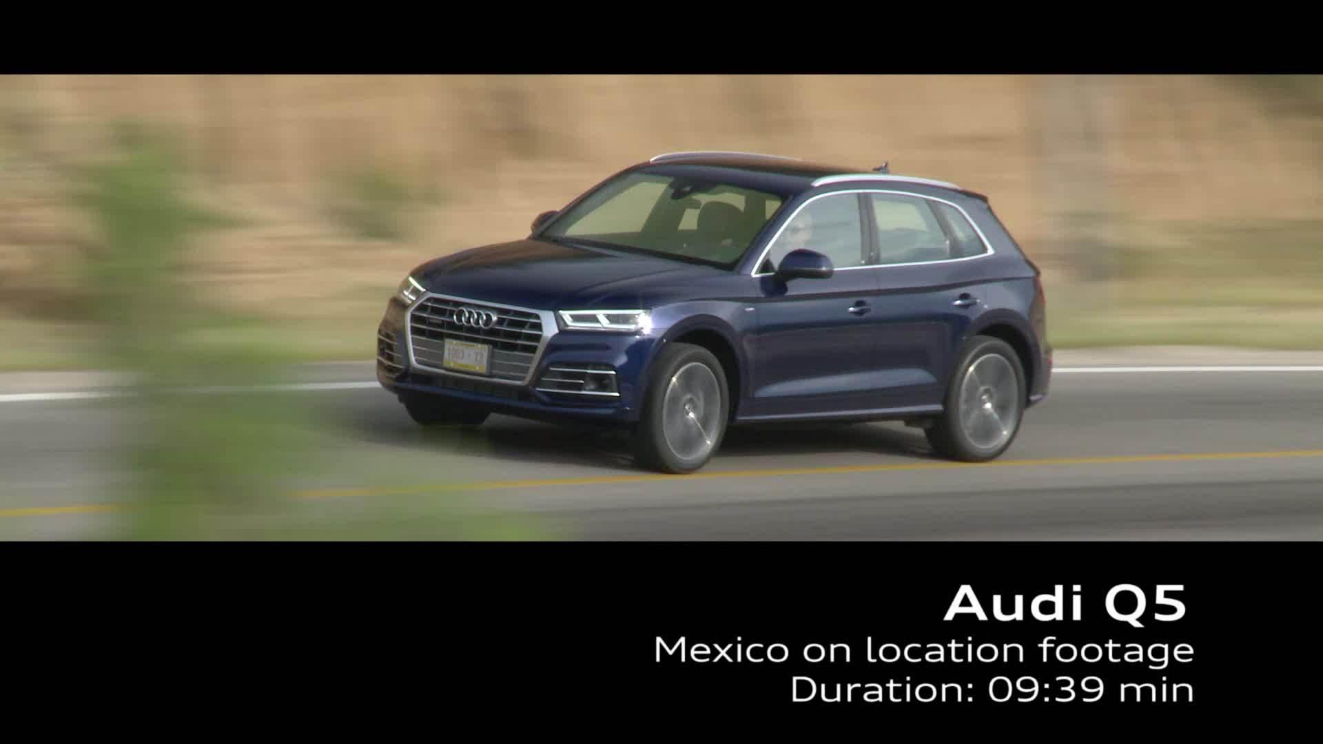 Audi Q5 on location Footage TFSI