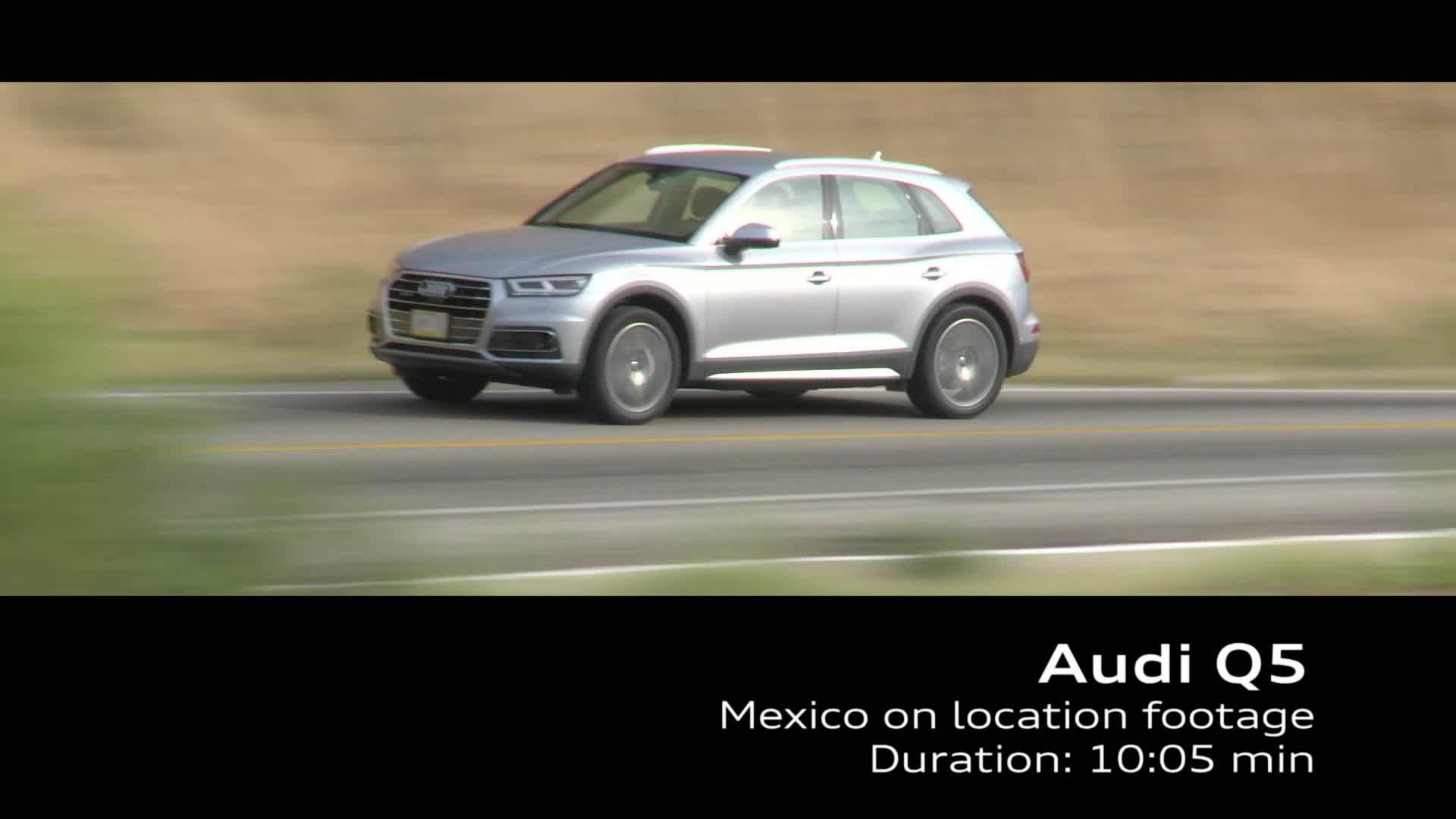 Audi Q5 on location Footage TDI