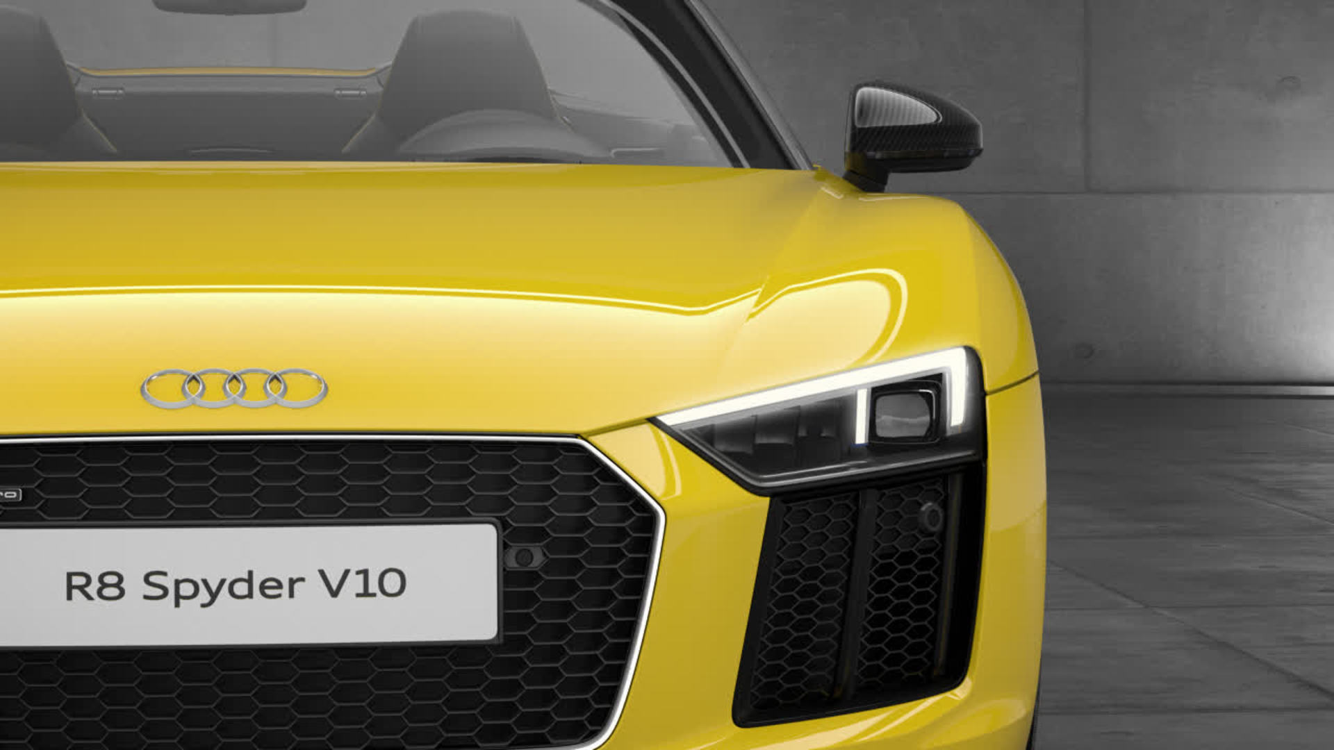 Audi R8 Spyder V10 LED headlight Animation