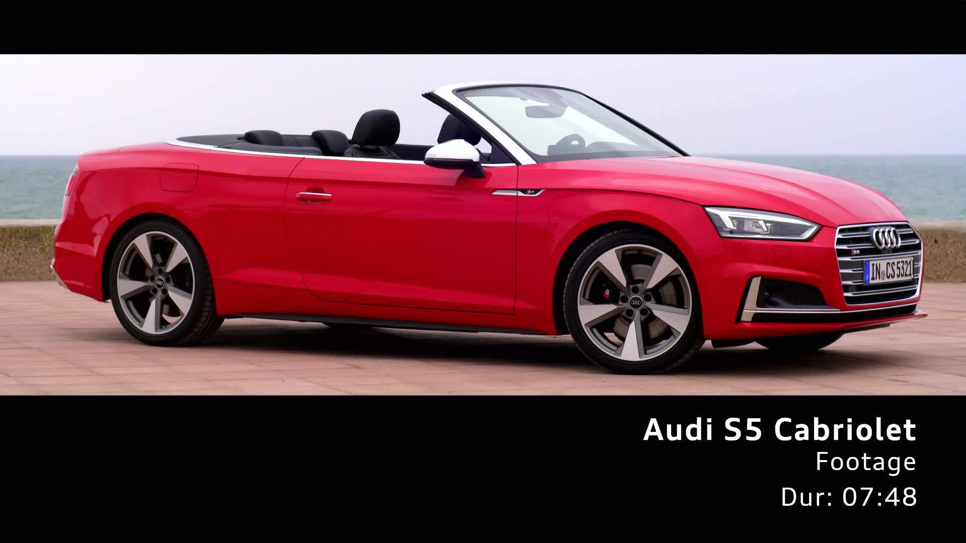 Audi S5 Cabriolet Footage on Location