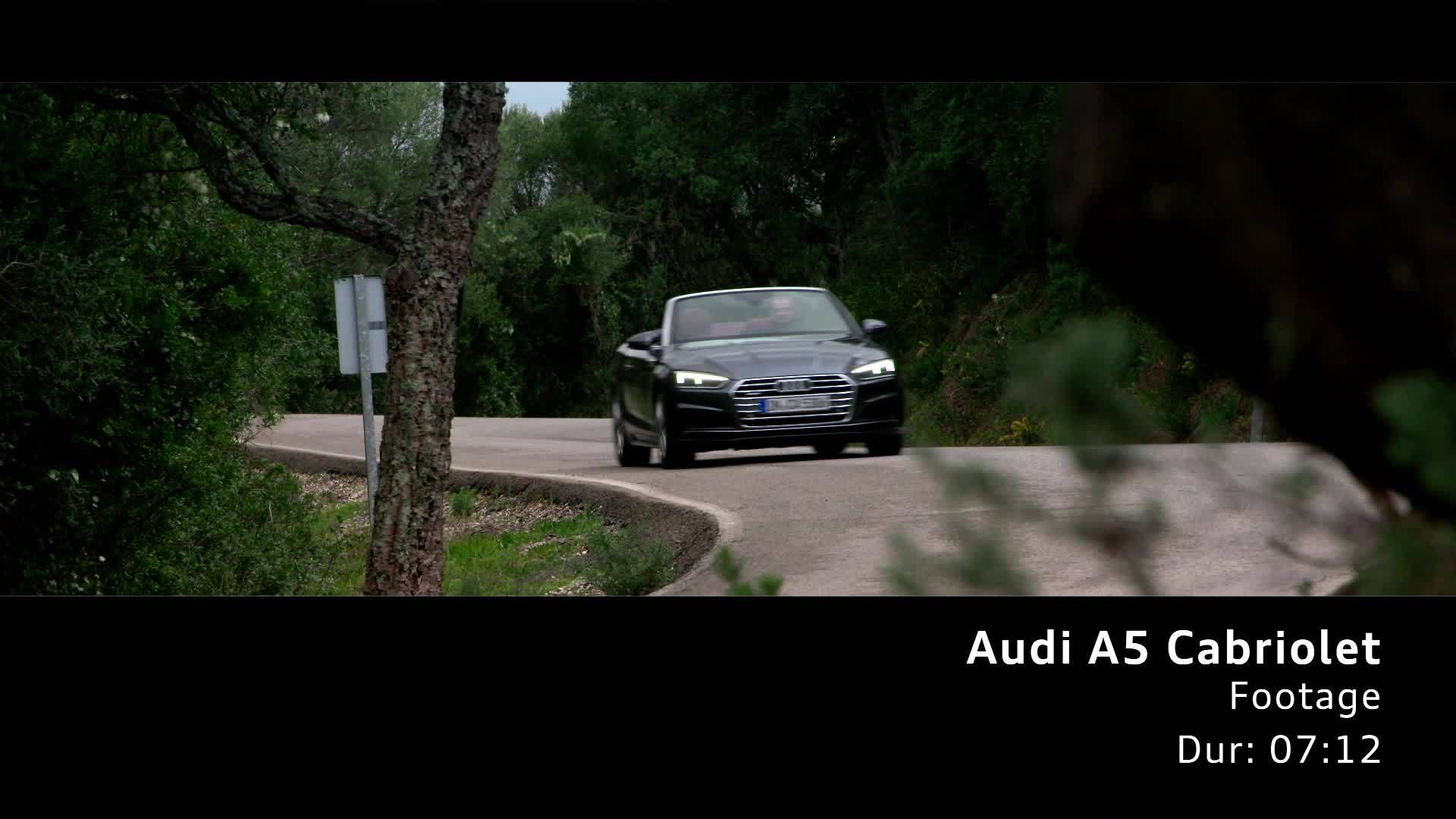 Audi A5 Cabriolet Footage on Location