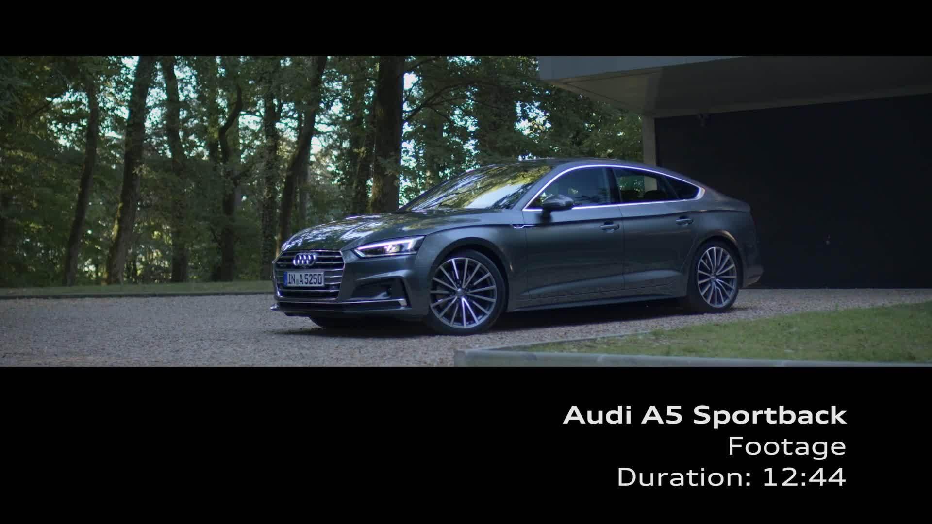 Audi A5 Sportback Footage