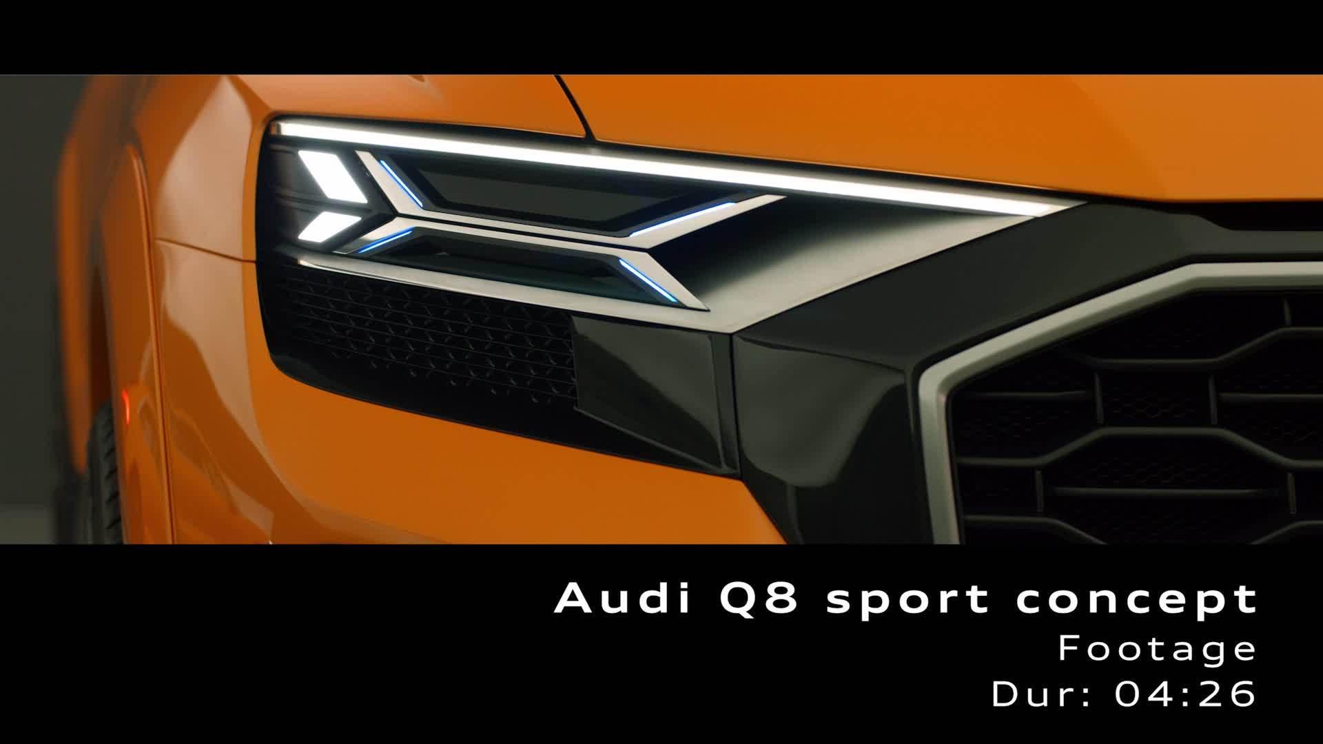 Audi Q8 sport concept - Footage