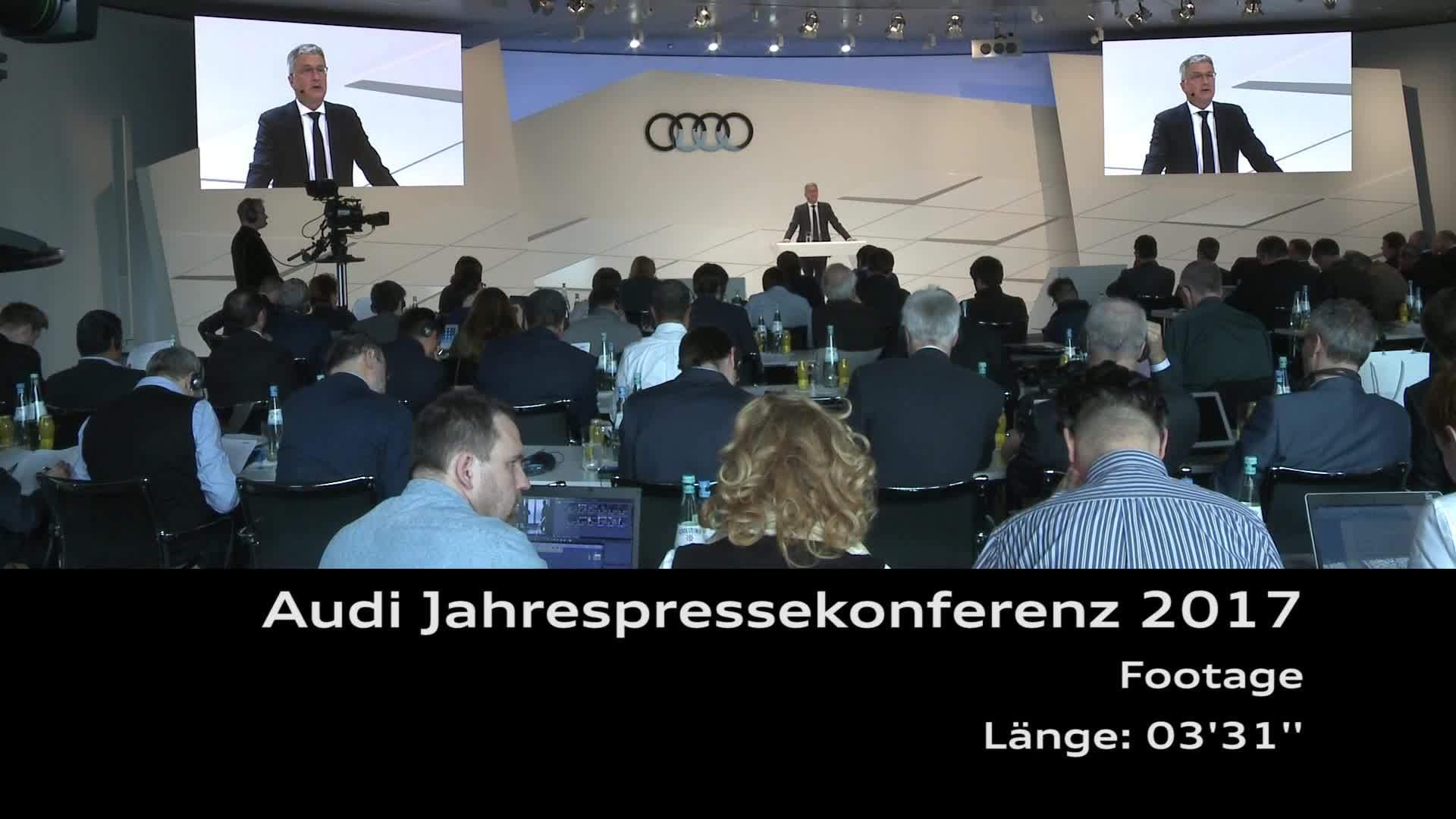 Audi Jahrespressekonferenz 2017 Footage