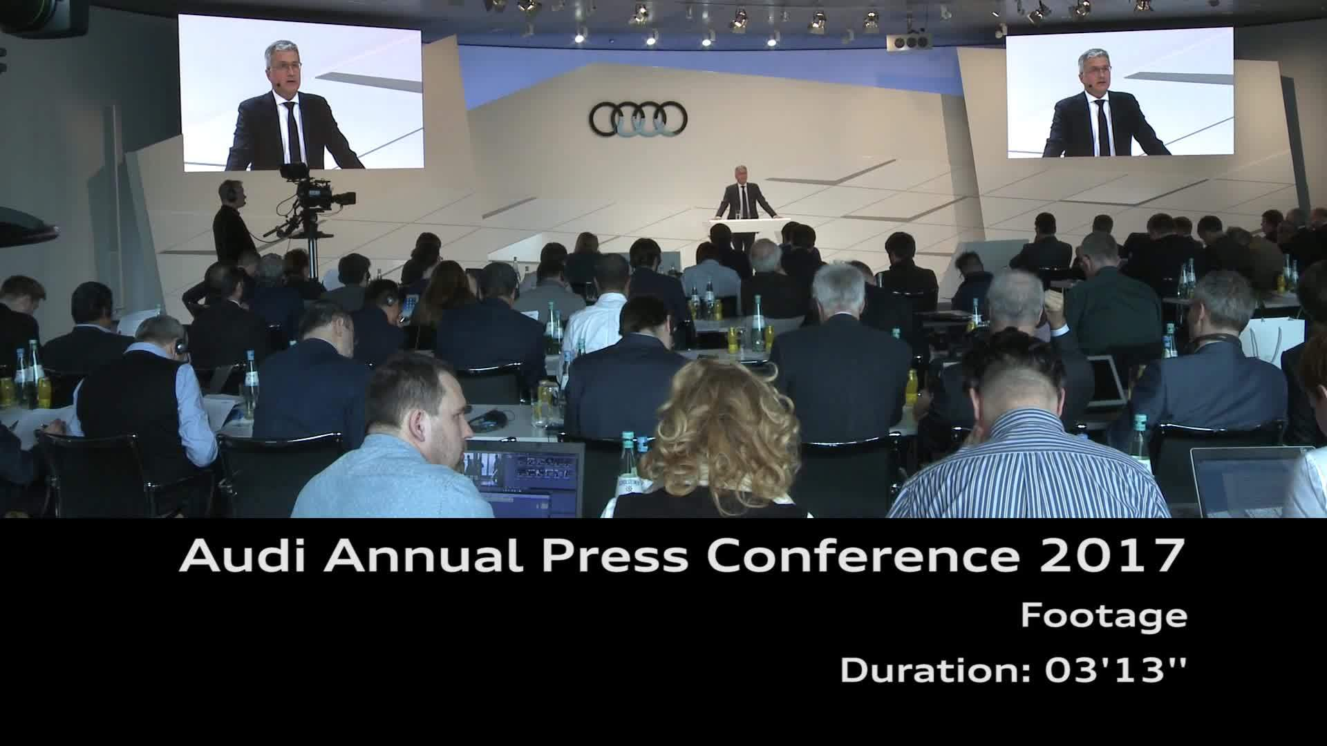Audi Annual Press Conference 2017 Footage