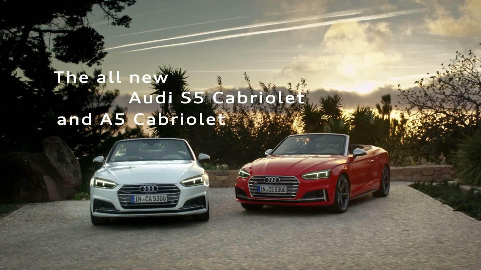 Sportlich-elegant und komfortabel - Das neue Audi A5 und S5 Cabriolet