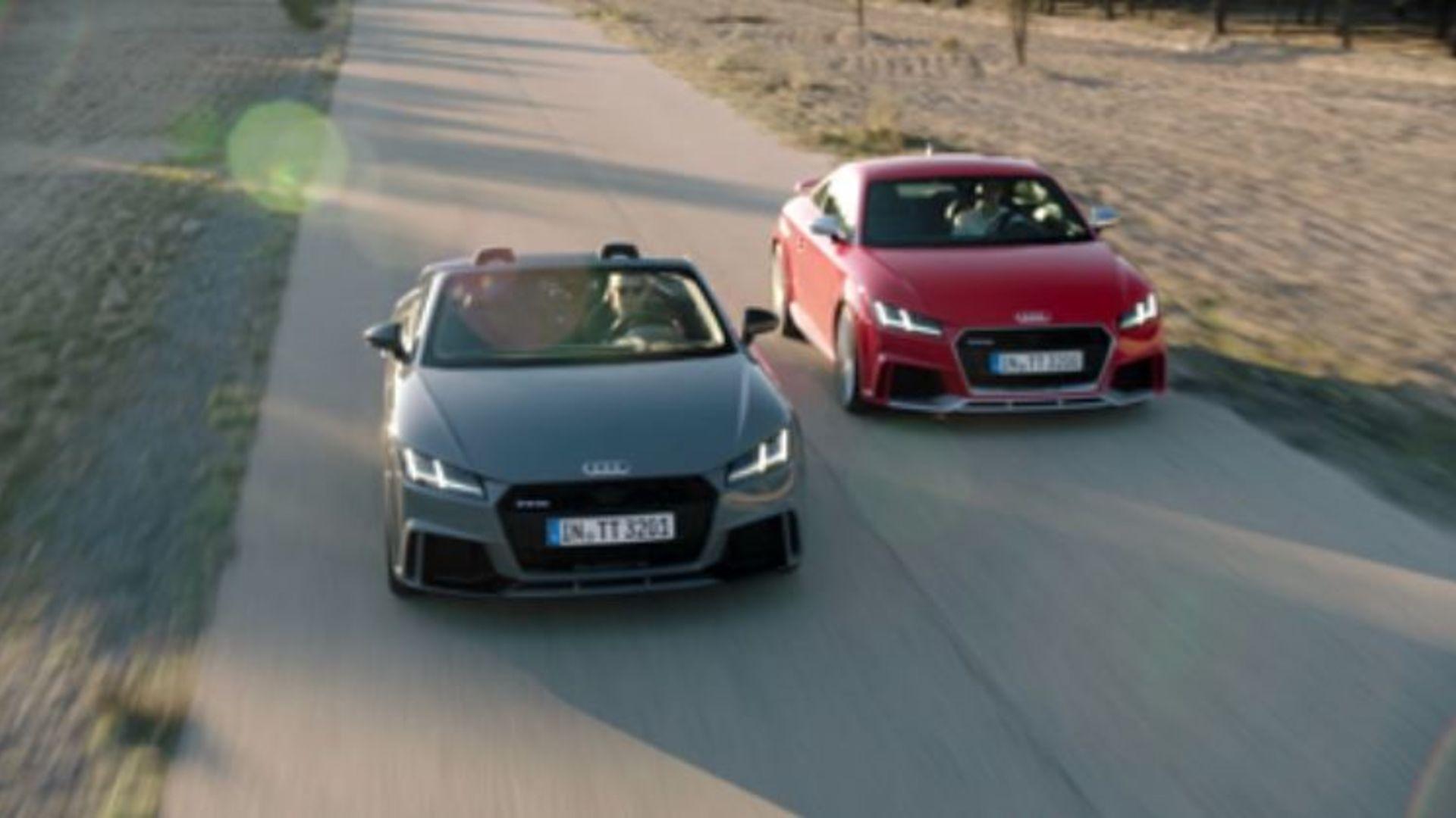 Dynamisches Doppel - TT RS Coupé und TT RS Roadster