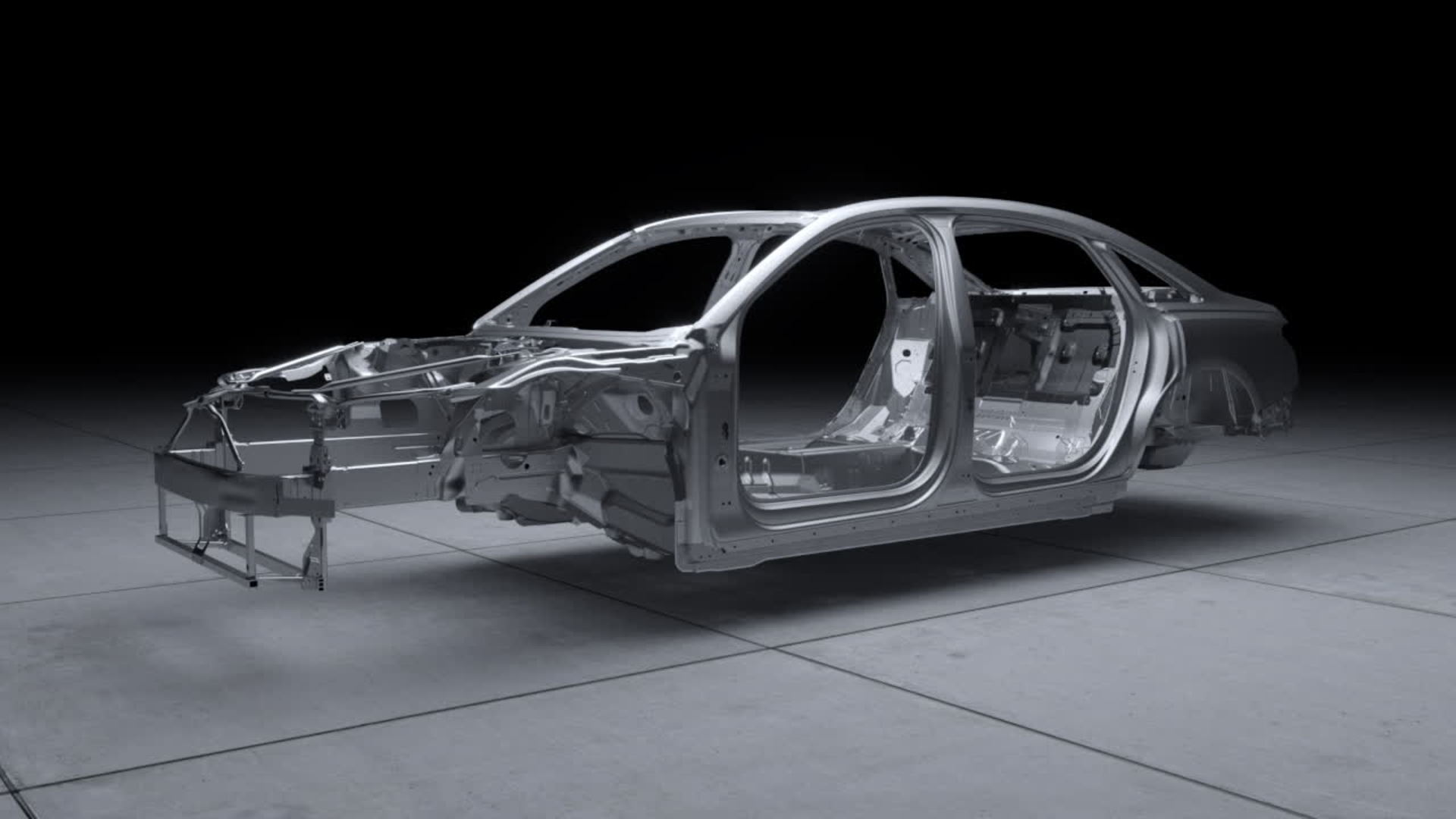 Animation: Looking ahead to the new Audi A8 Space Frame with a unique mix of materials