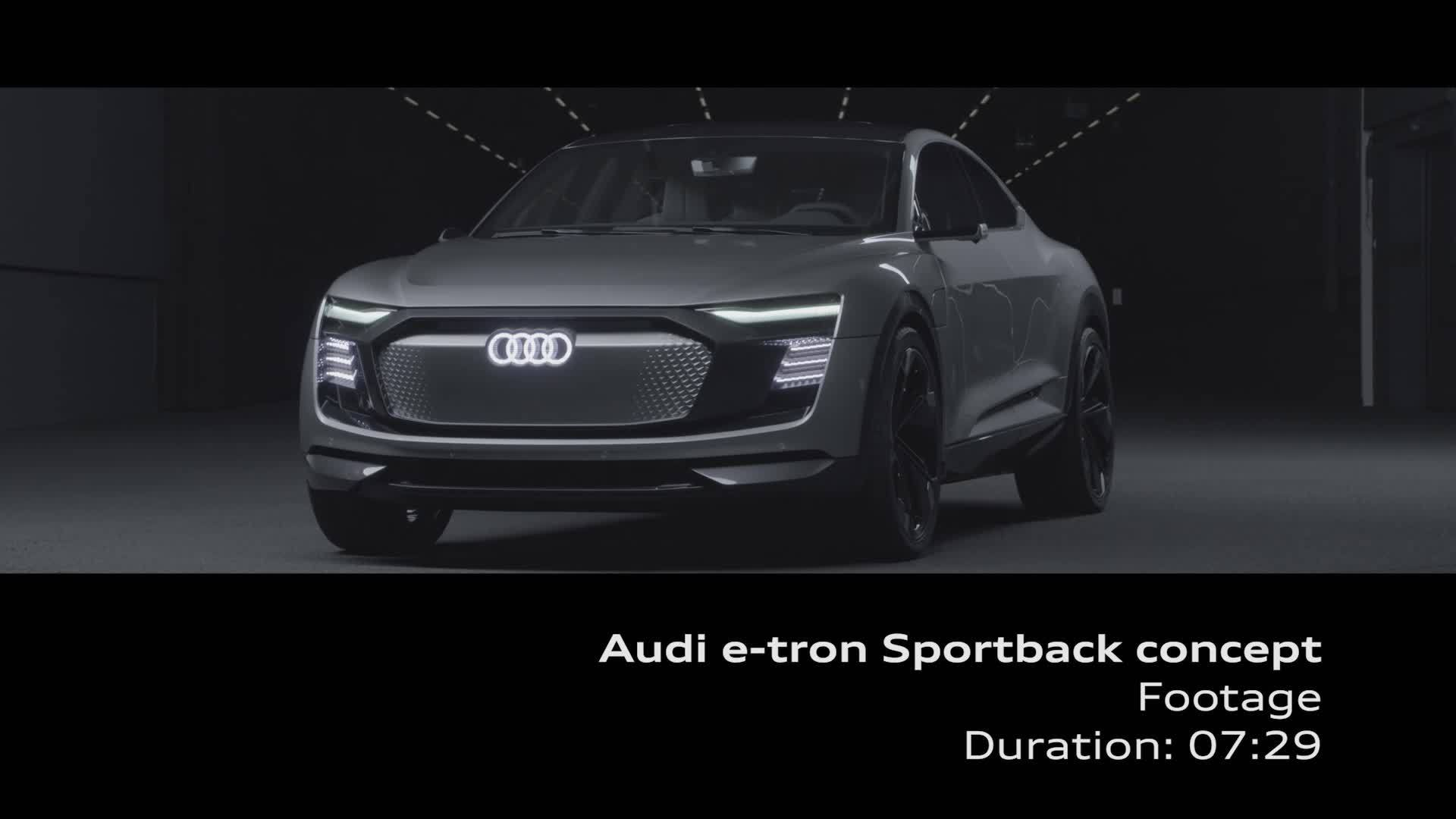 Audi e-tron Sportback concept - Footage