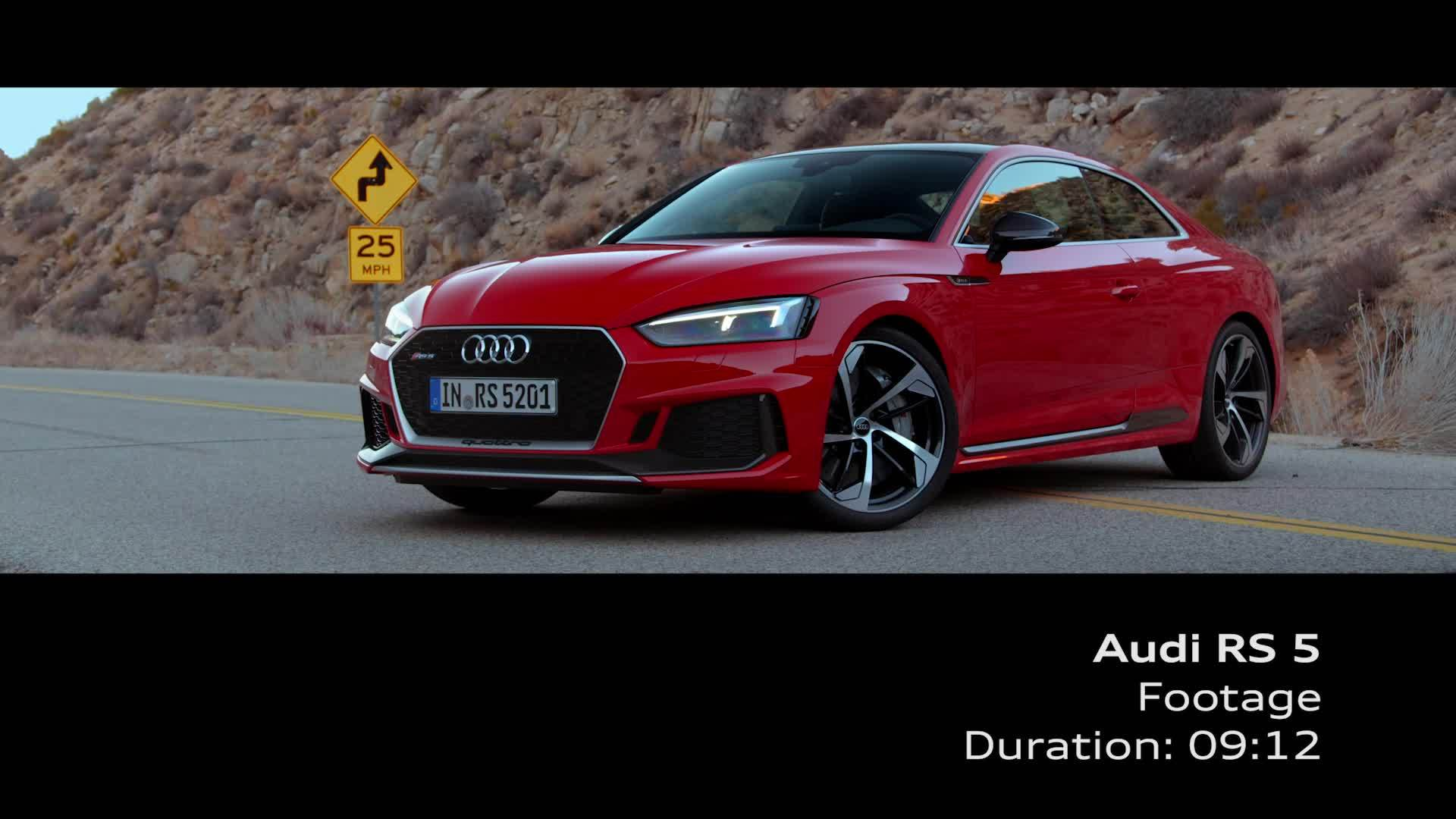 Audi RS 5 Coupé - Footage