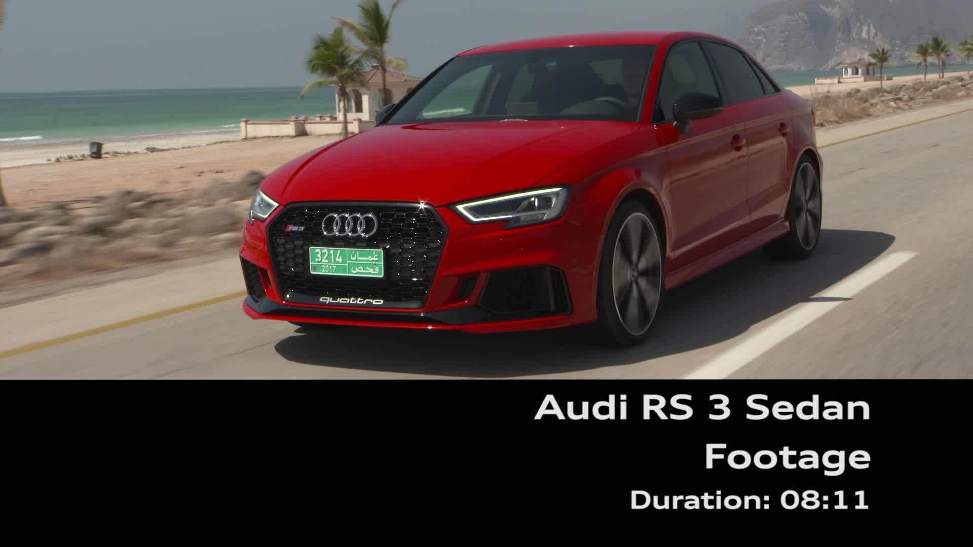 Audi RS 3 Sedan Footage - On location Oman