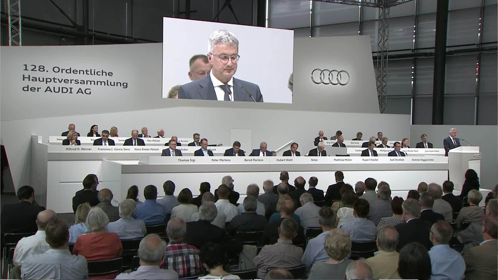 Die Hauptversammlung der AUDI AG - Mitschnitt