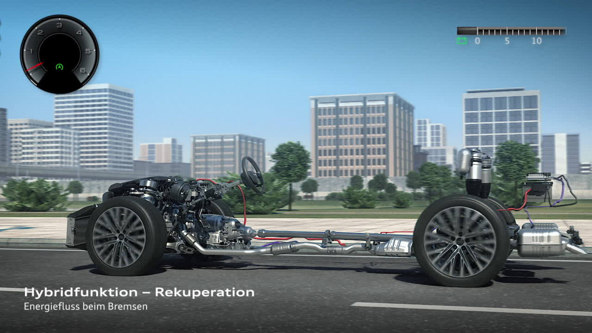 Audi A8 Mildhybrid Electric Vehicle (MHEV) - Animation