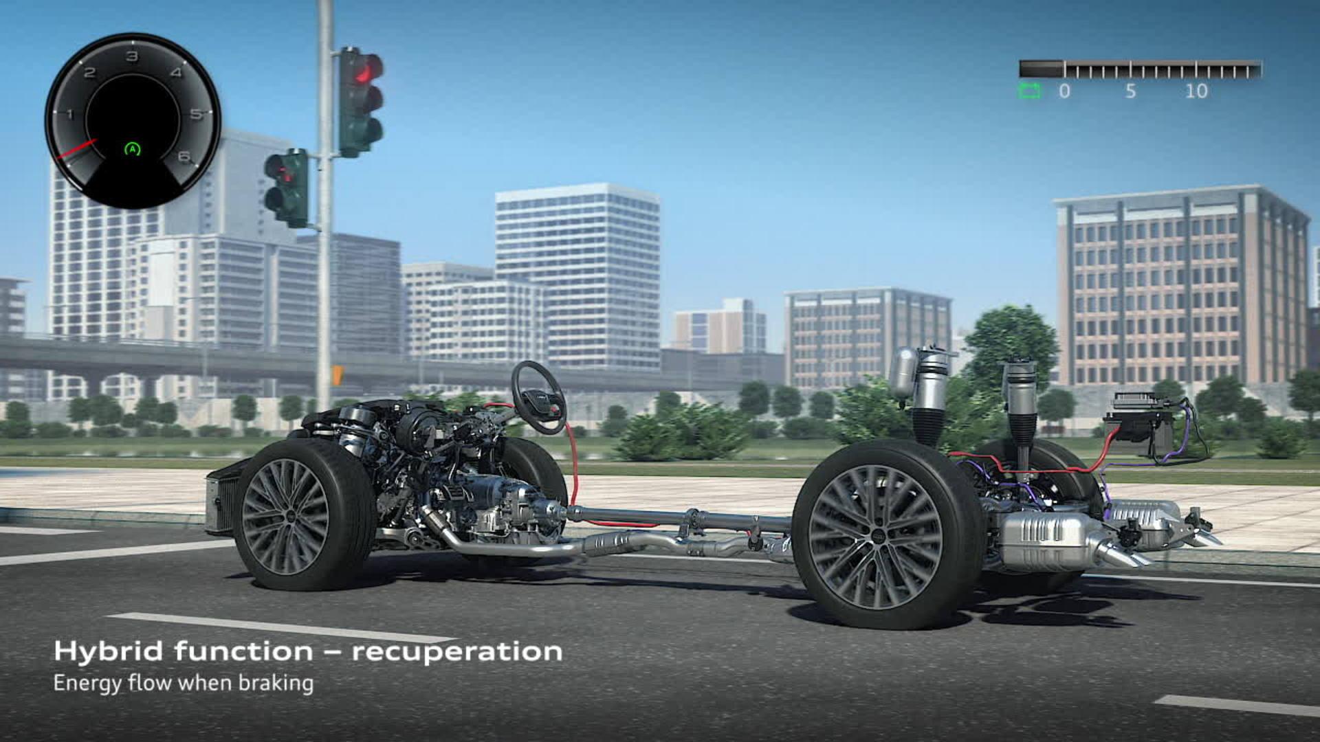 Drive System Audi Mediacenter Trail 70 12v Wiring Diagram A8 Mild Hybrid Electric Vehicle Mhev Animation