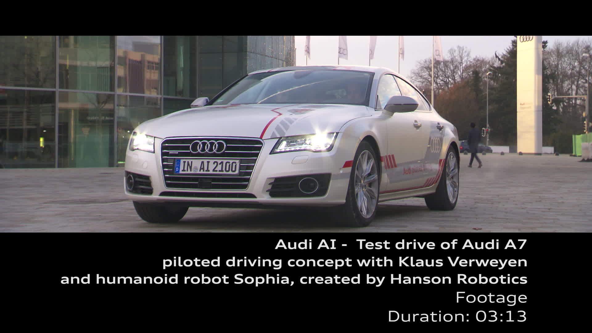Audi AI - Testfahrt Jack und Sophia - Footage