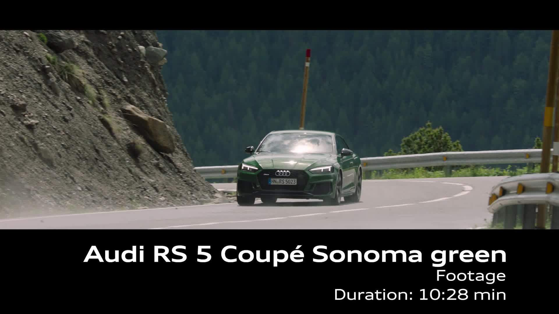Audi RS 5 Coupé Sonoma green - Footage on Location Andorra