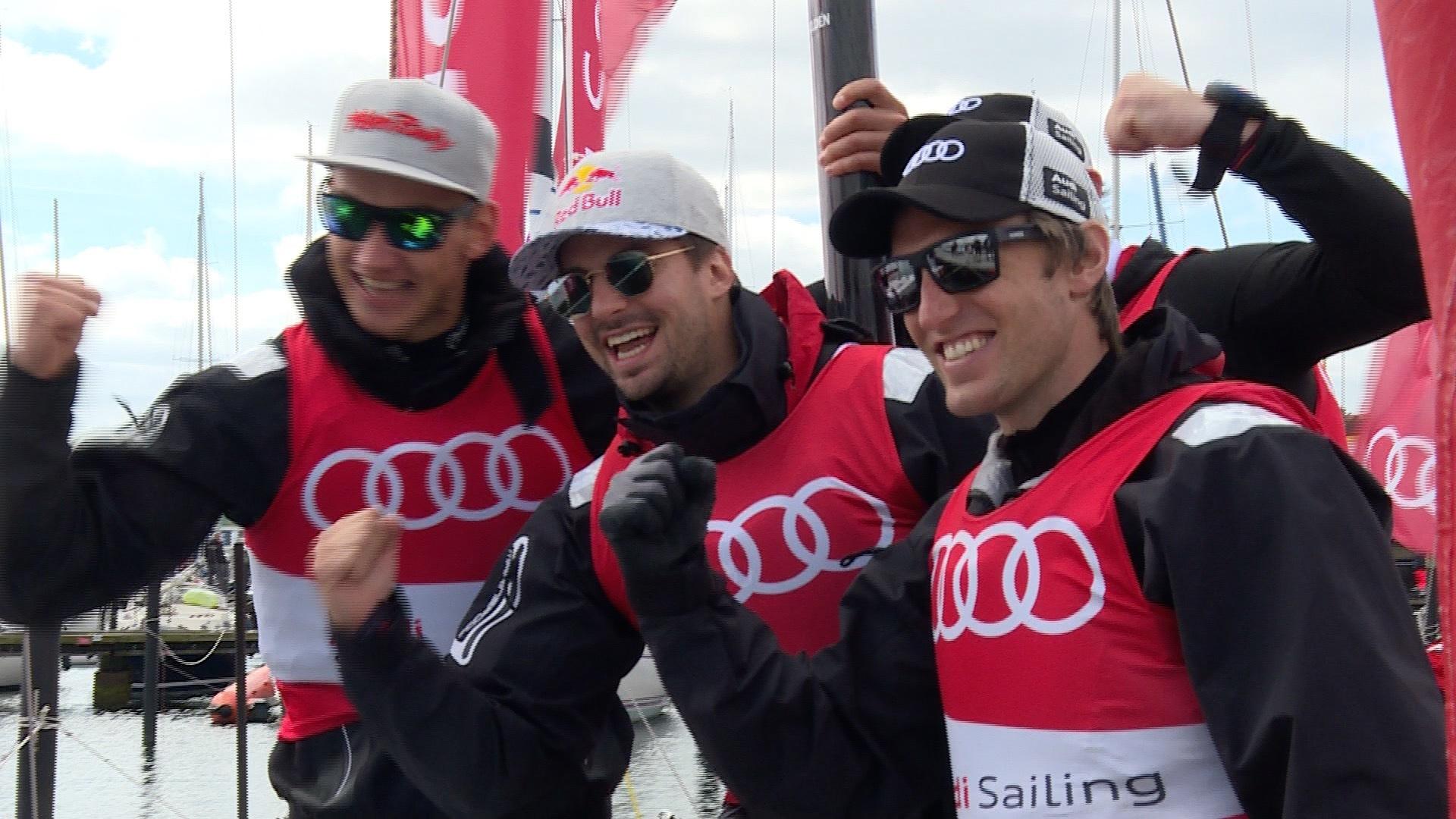 Audi e-tron Cup: Skirennläufer Fritz Dopfer bei der Kieler Woche