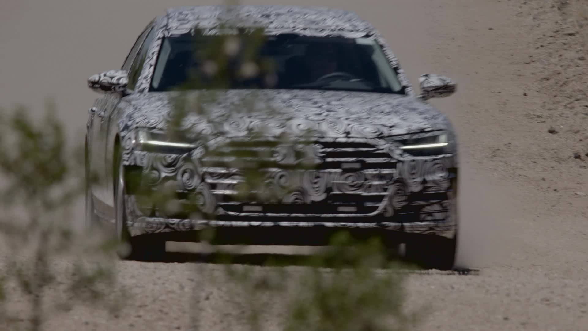 Disguised: New Audi A8 2017 tested