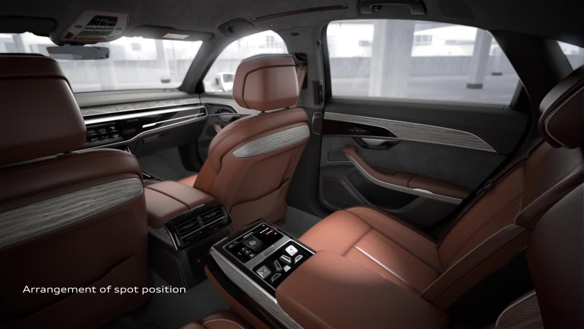 Animation Audi A8 - Matrix LED reading lamp