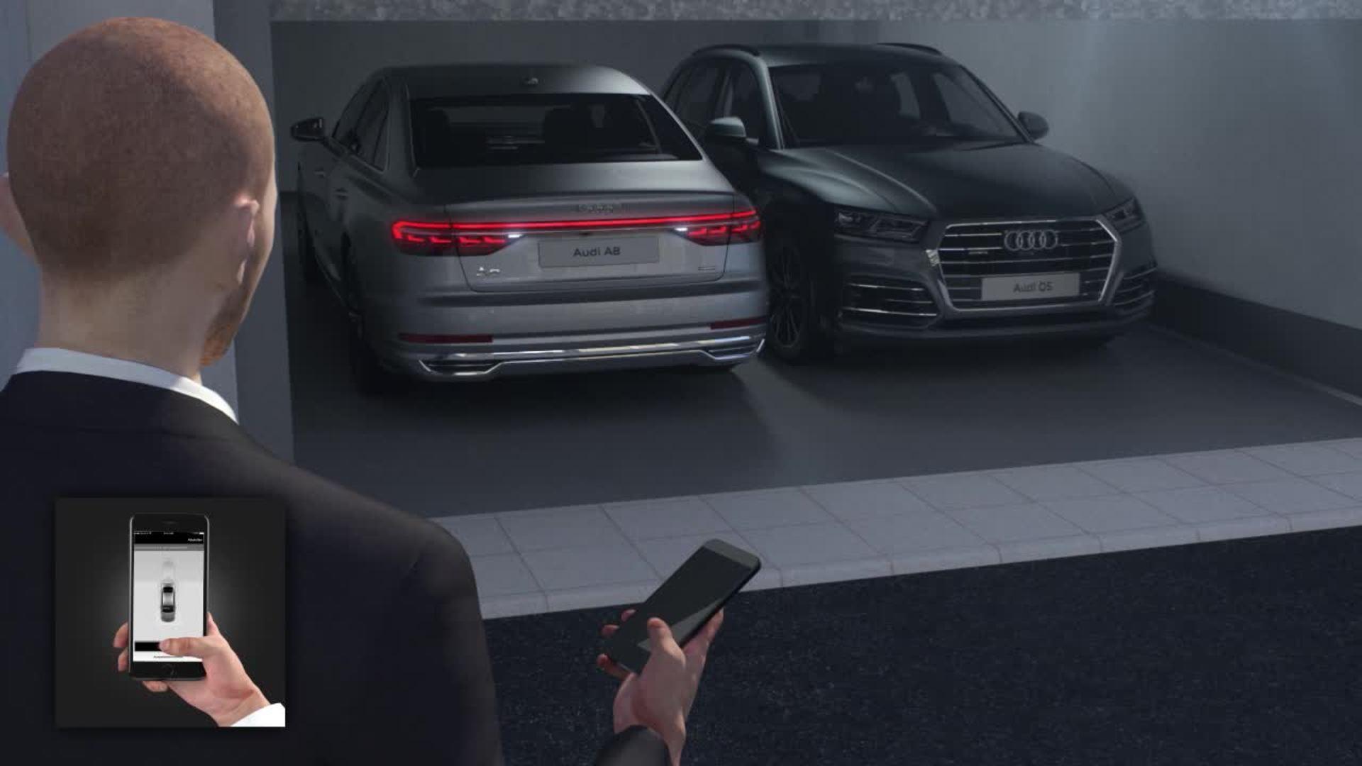 Animation Audi A8 - Audi AI parking pilot and garage pilot