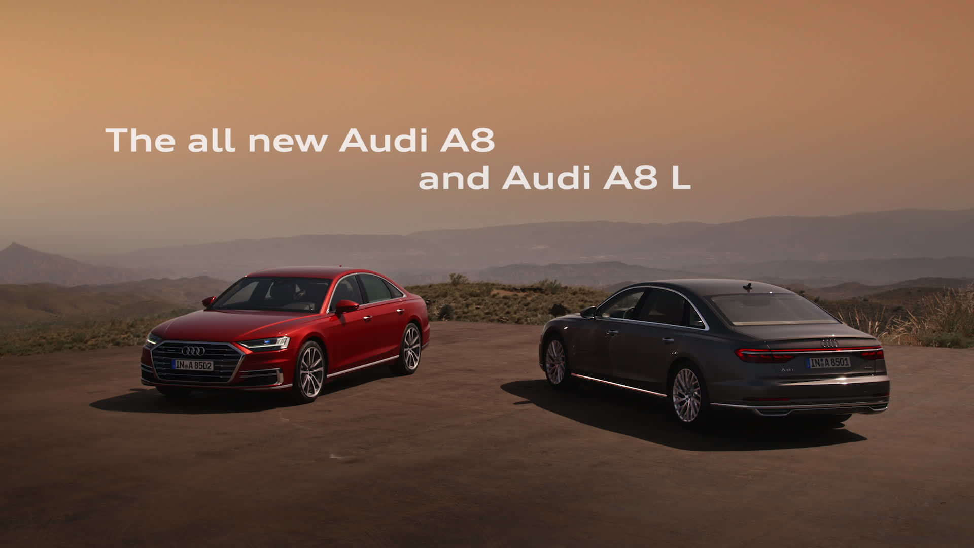 The all new Audi A8 and Audi A8 L