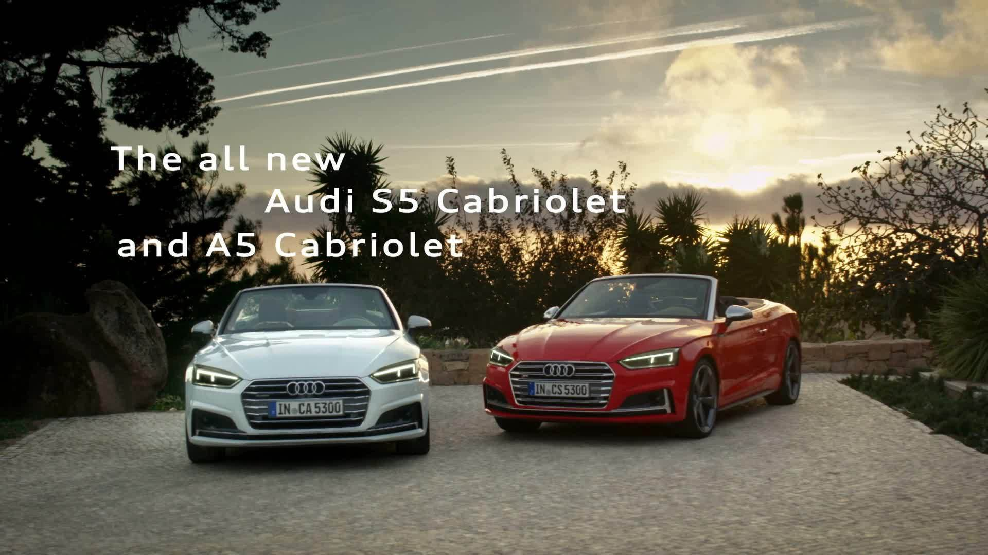 Sporty, elegant and comfortable - The all new Audi A5 and S5 Cabriolet