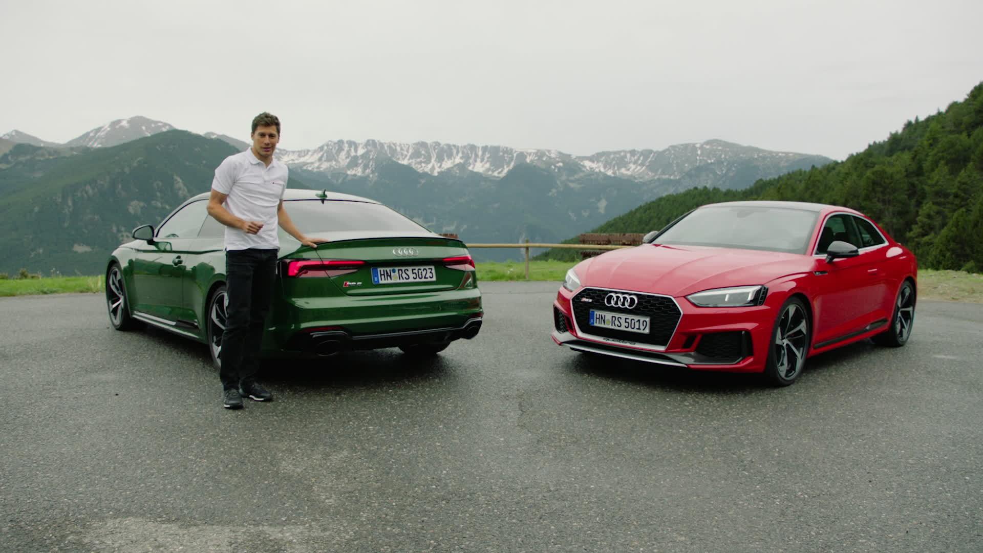 Zwei Charaktertypen treffen aufeinander: Loïc Duval und das neue Audi RS 5 Coupé