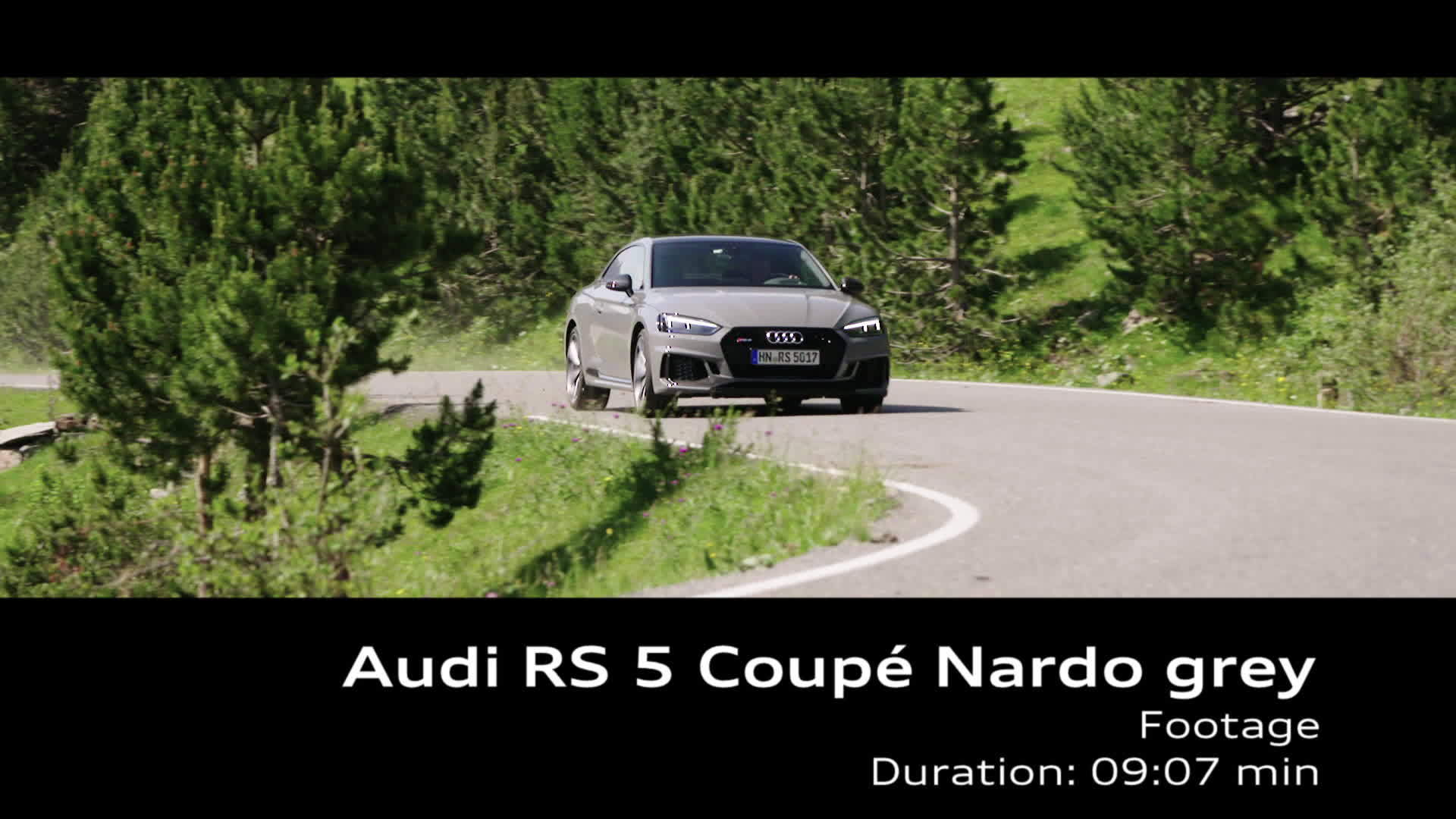 Audi RS 5 Coupé Nardo grey - Footage on Location Andorra