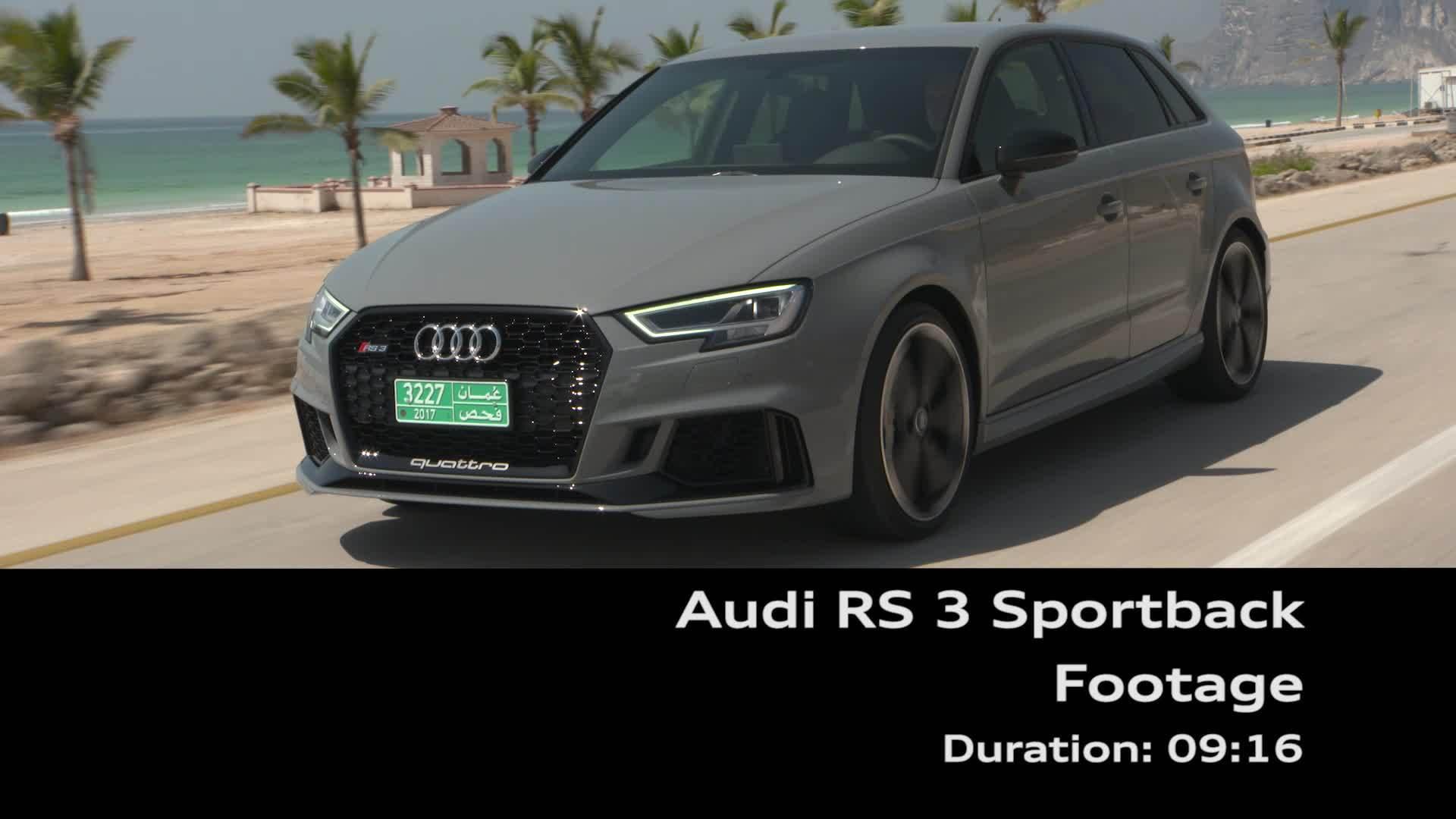 Audi RS 3 Sportback - Footage on Location Oman