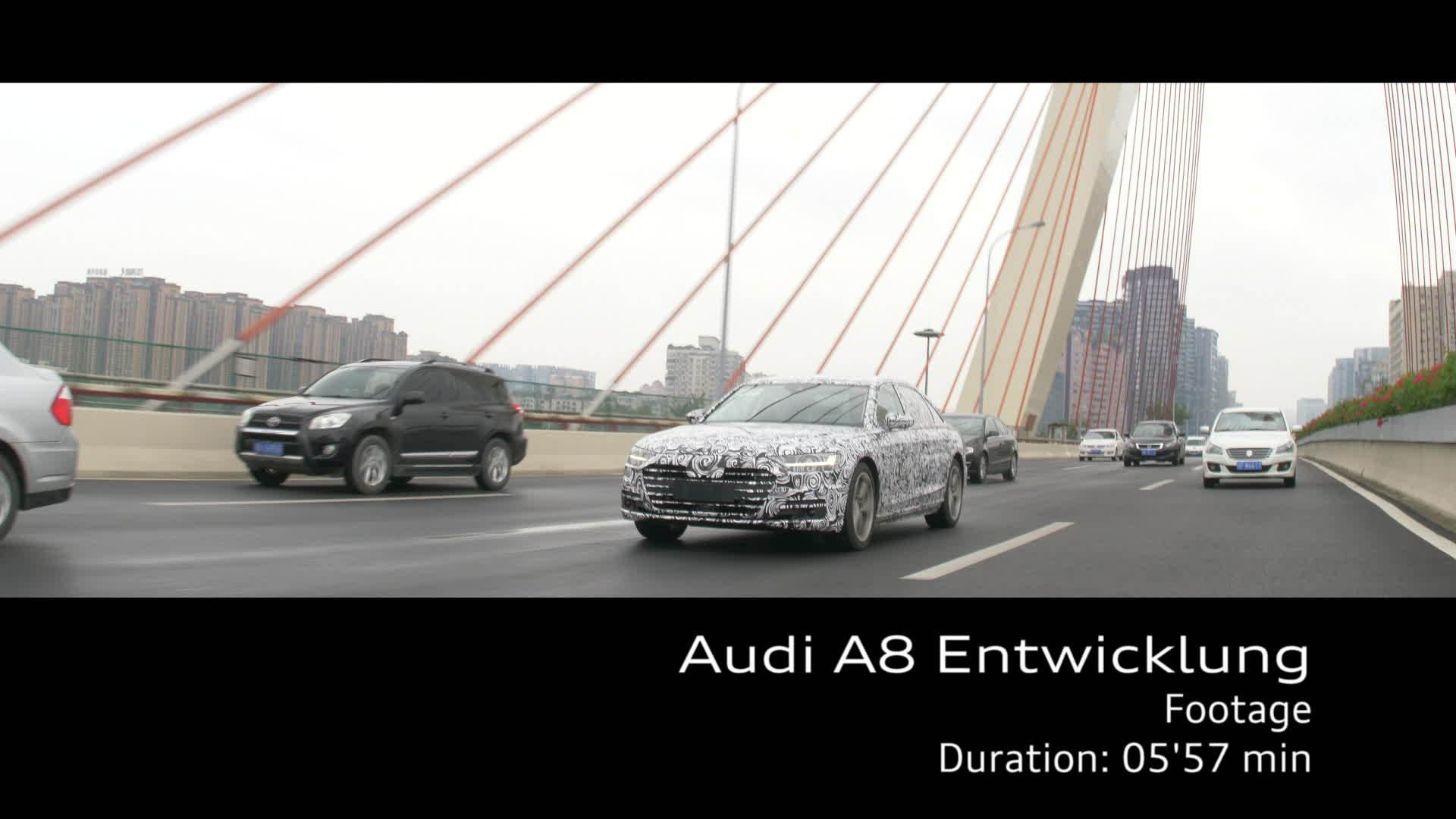 Audi A8 Footage Entwicklung