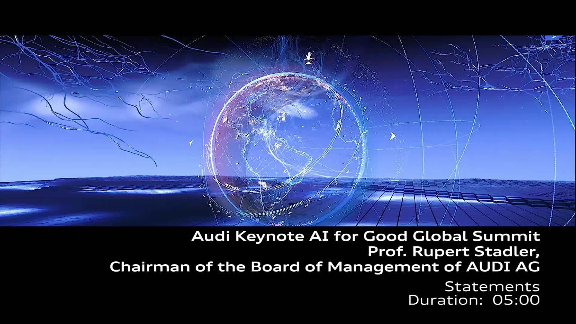 AI Keynote Prof. Rupert Stadler - Statements