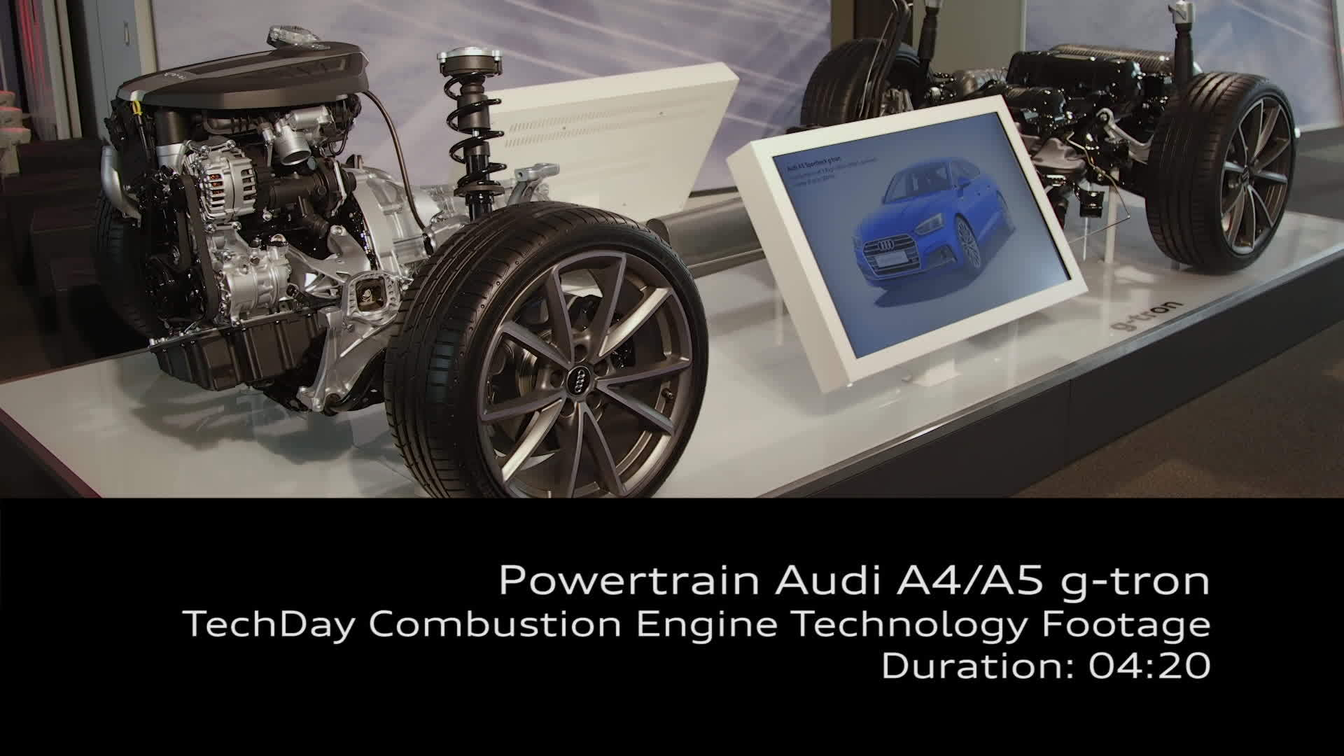 Footage powertrain Audi A4/A5 g-tron