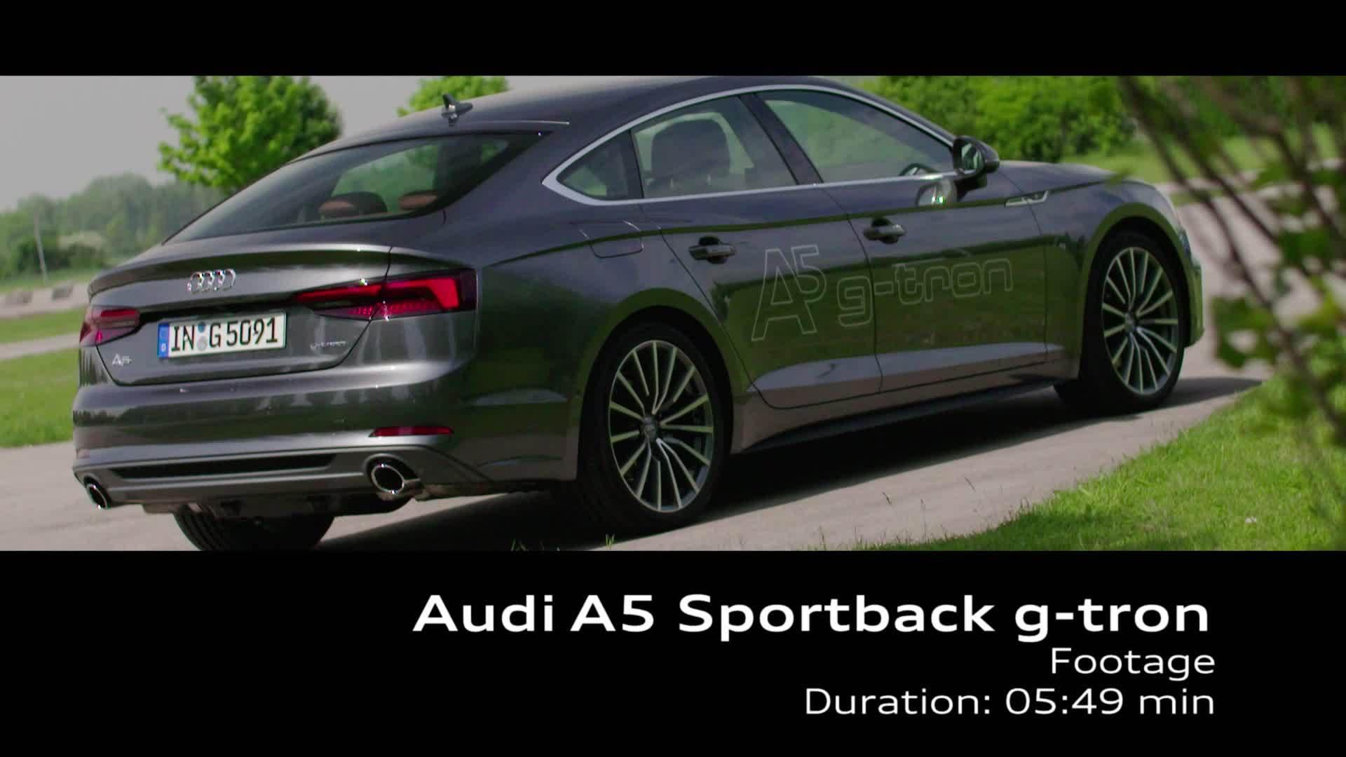 Audi A5 Sportback g-tron - Footage TechDay