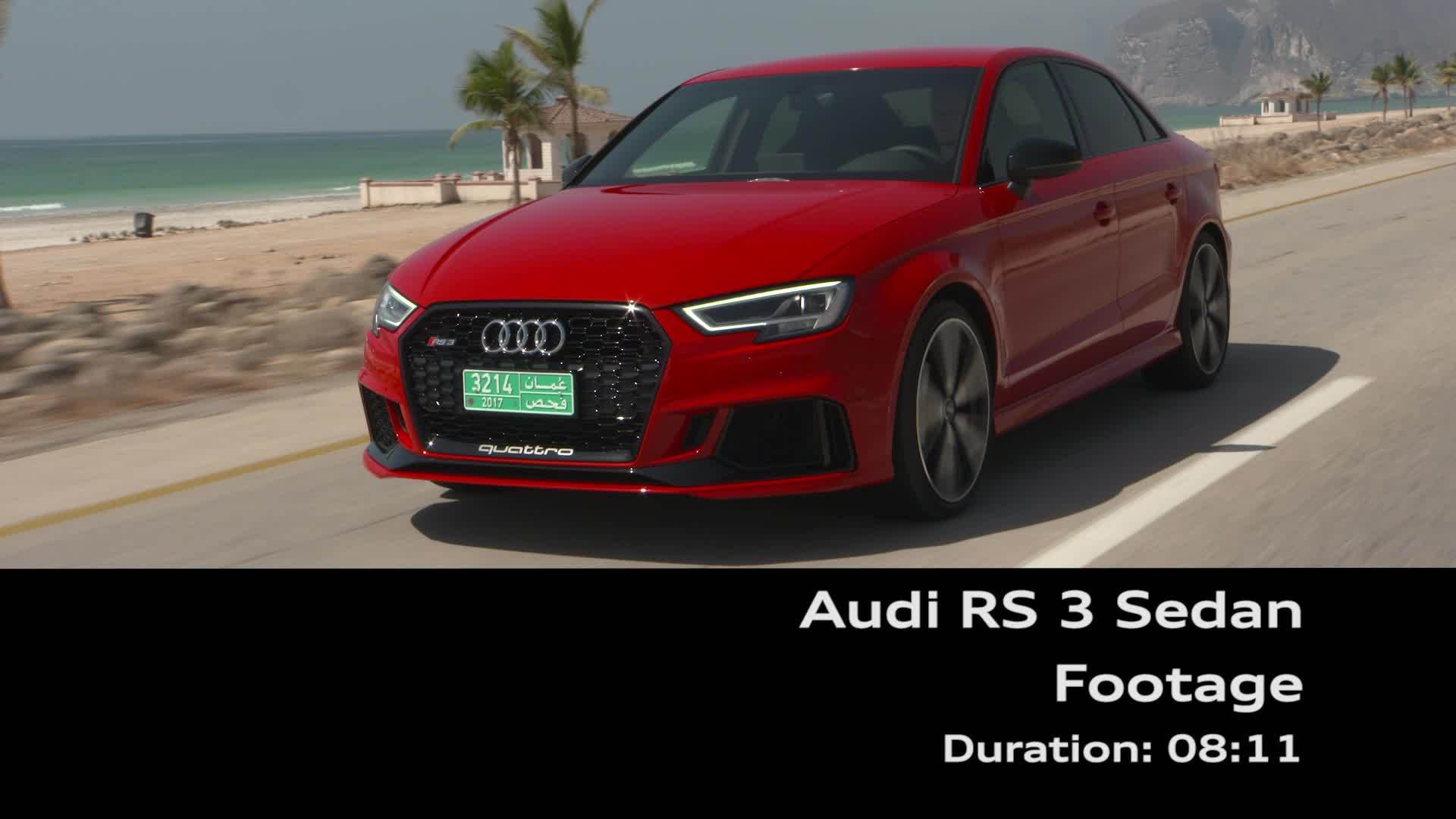 Audi RS 3 Sedan Footage - On location Oman