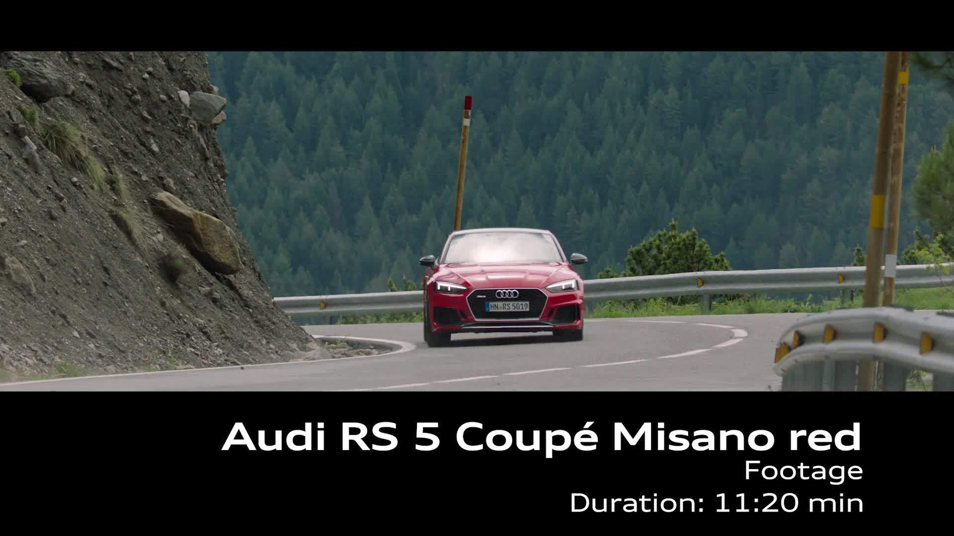Audi RS 5 Coupé Misano red - Footage on Location Andorra