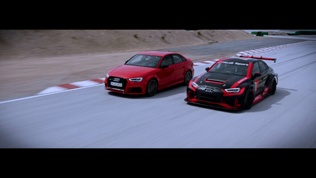 Born on the track, built for the road - Audi RS 3 und RS 3 LMS
