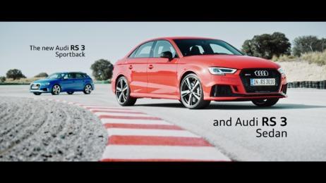 Geballter Fahrspaß und geschärfte Optik: Der neue Audi RS 3 Sportback