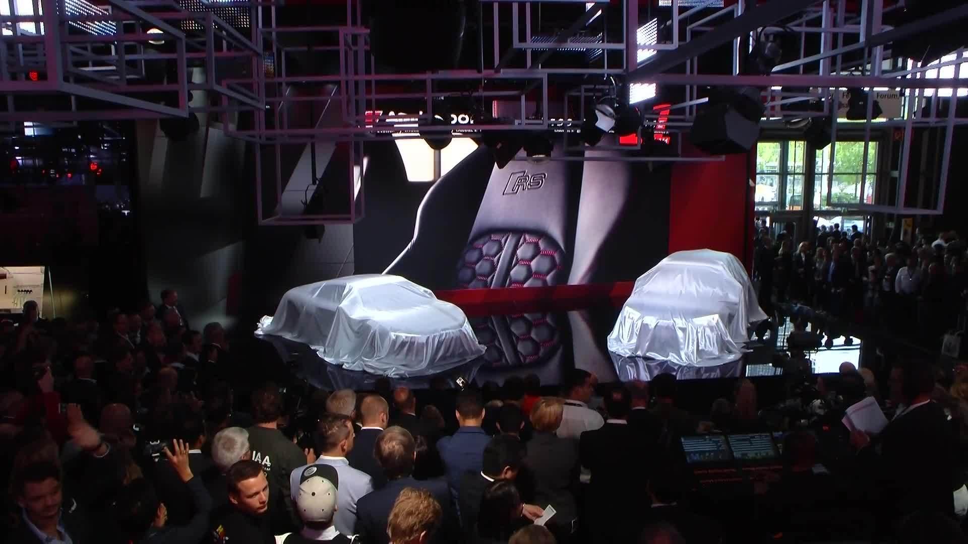 Die Audi Sport Pressekonferenz von der IAA 2017
