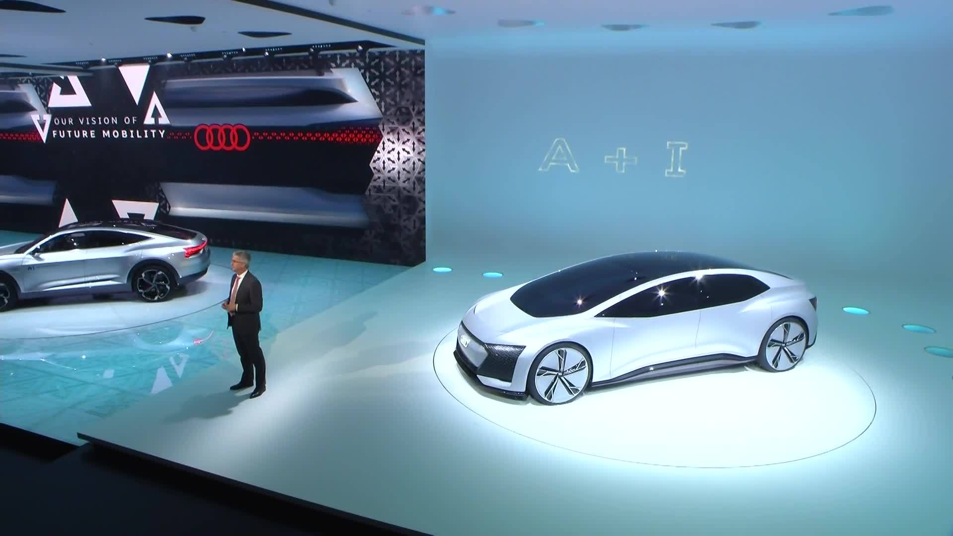 The AUDI AG press conference at IAA
