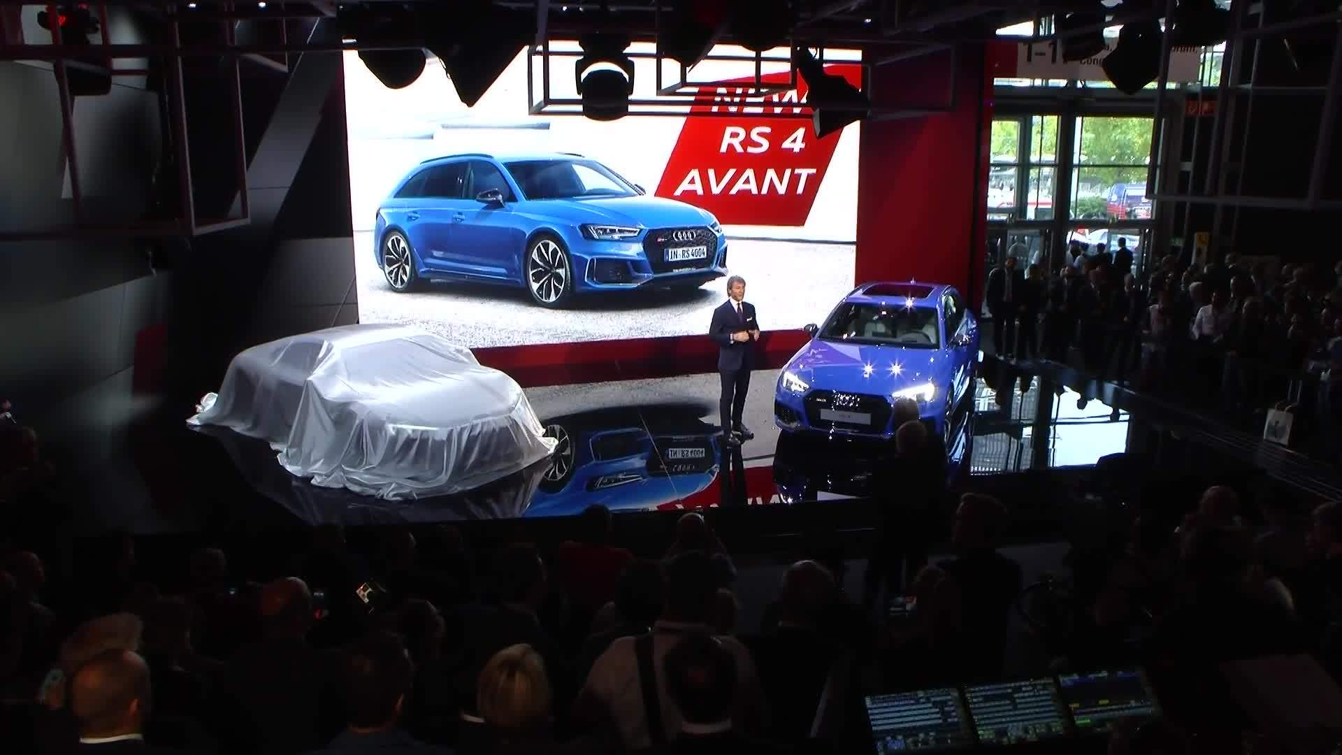The Audi Sport press conference at IAA