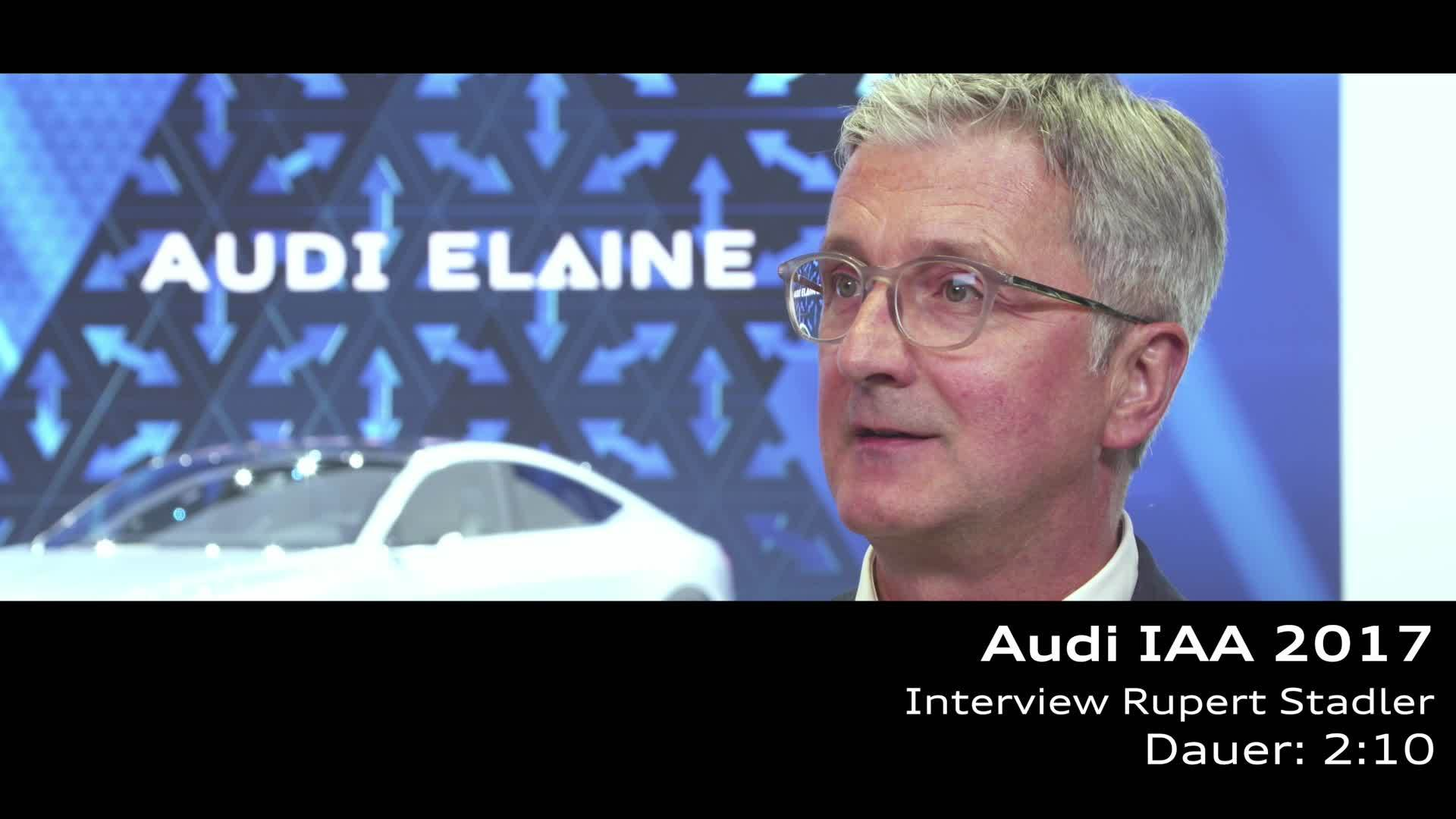 Audi IAA 2017: Interview Rupert Stadler