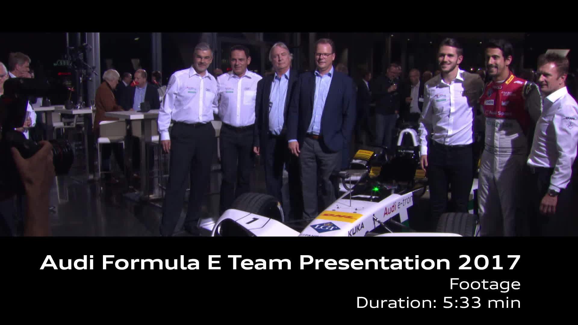 Footage Audi Formel E Team Präsentation 2017