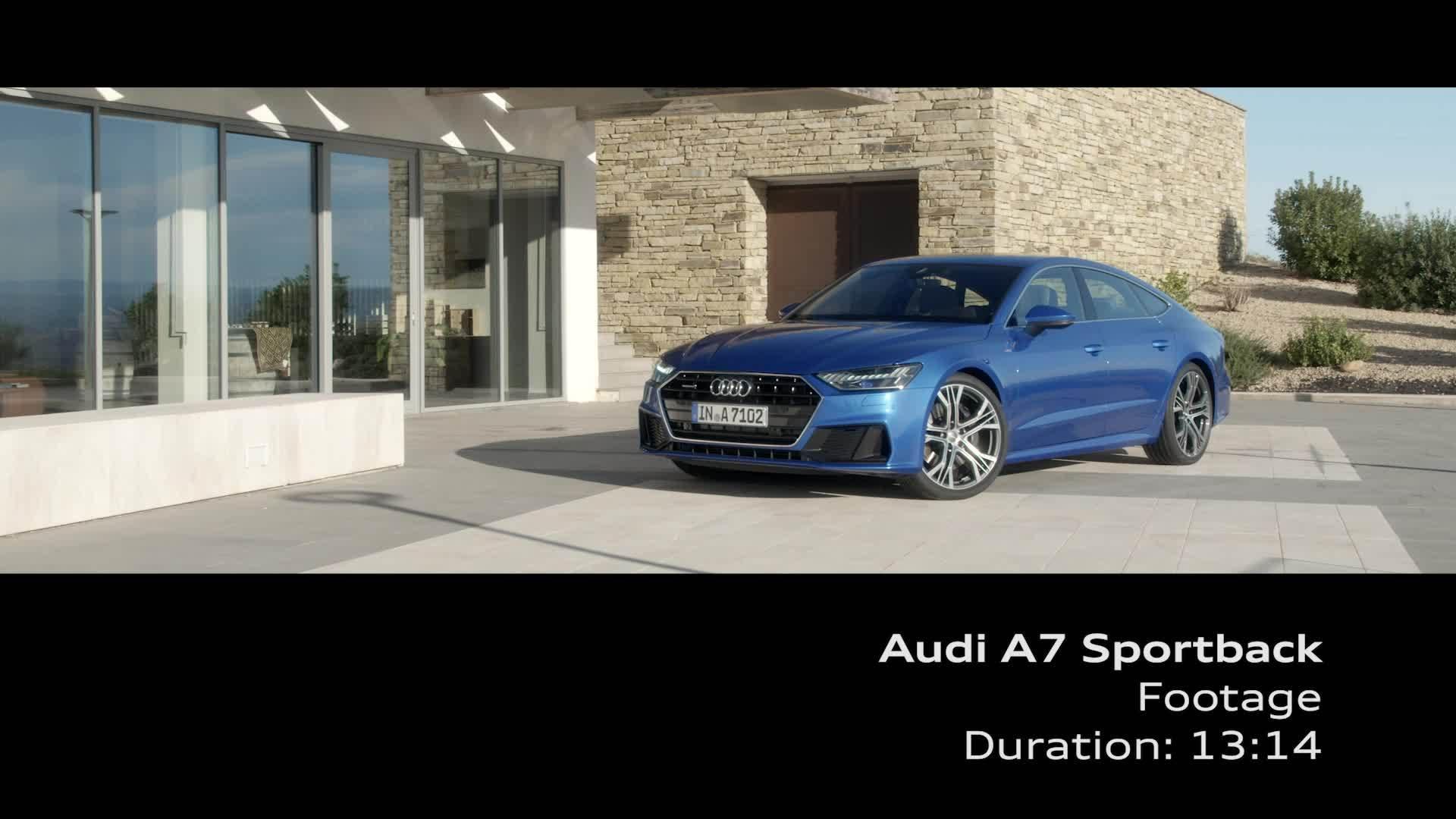Audi A7 Sportback Footage blau