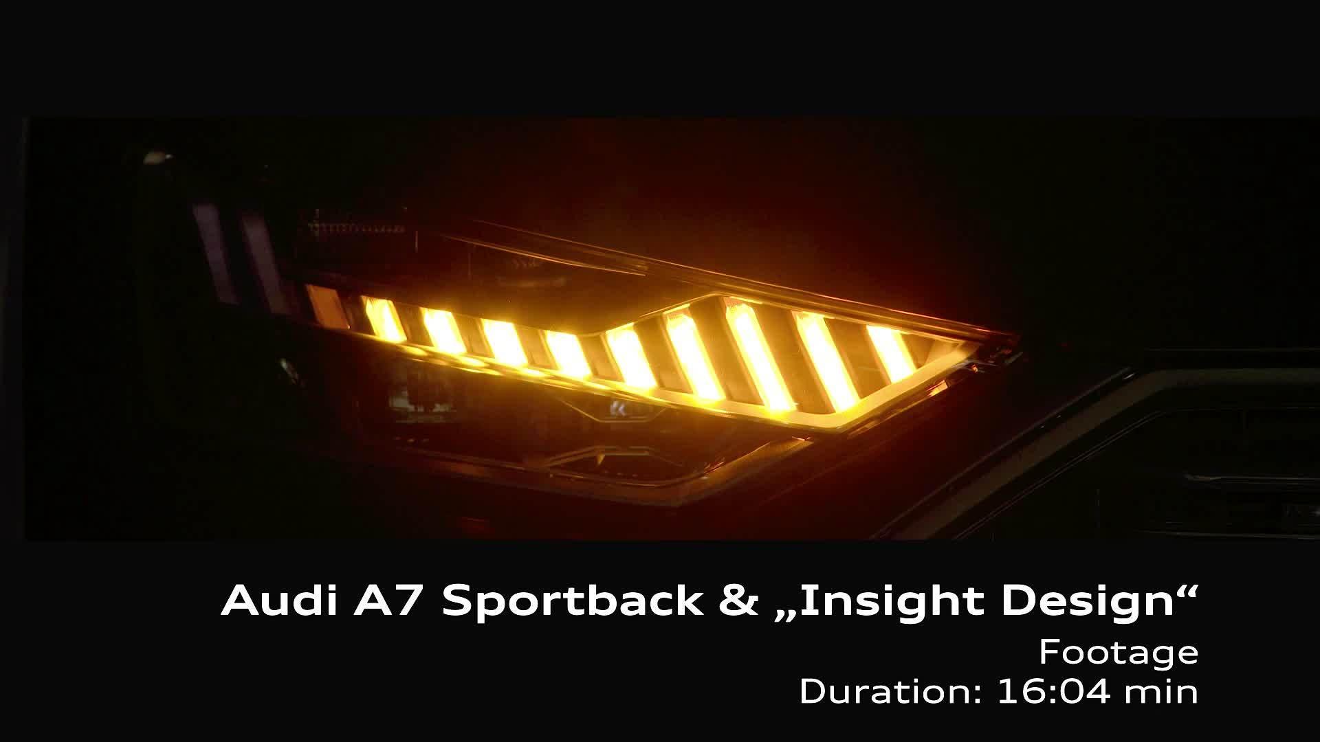 """Footage Audi A7 Sportback & """"Insight Design"""""""