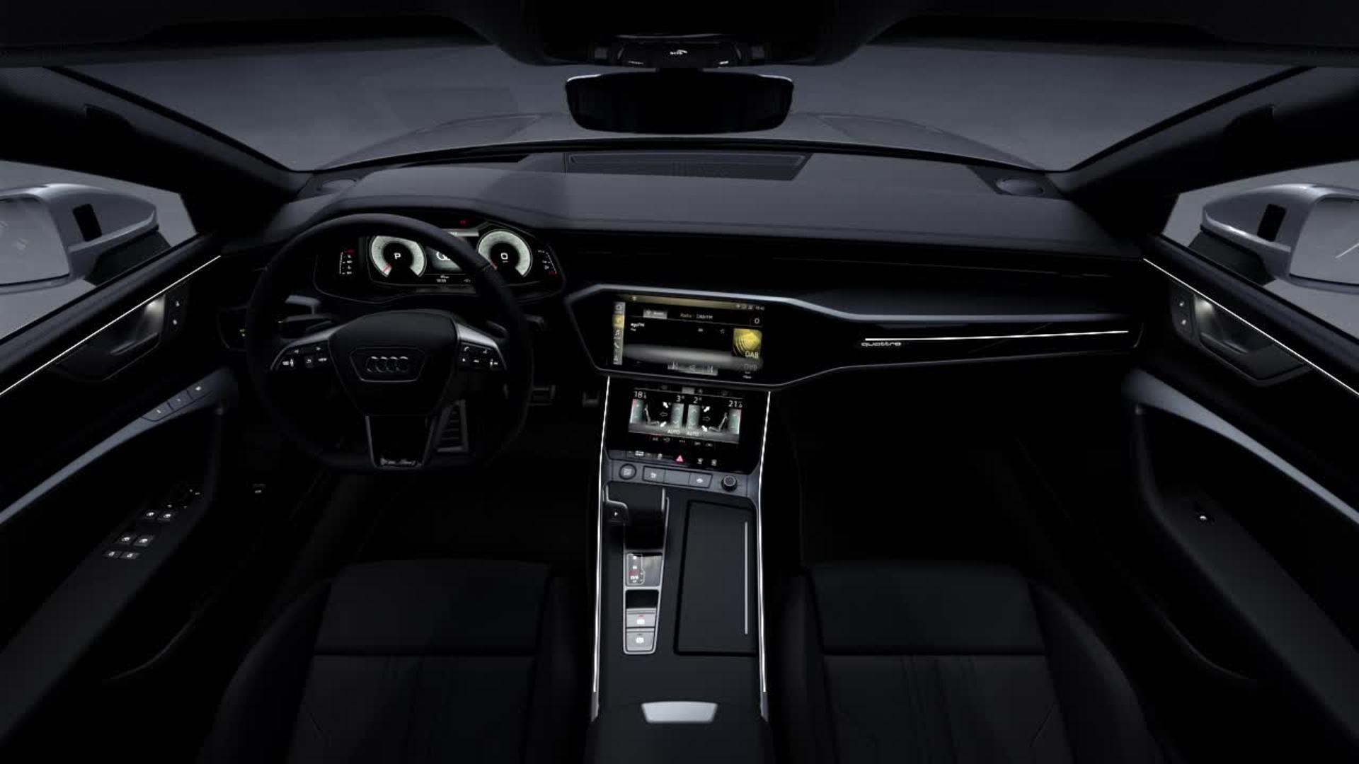 Animation Audi A7 2017 interior design