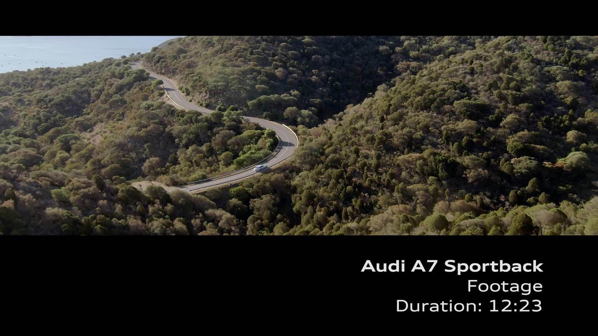 Audi A7 Sportback Footage grau